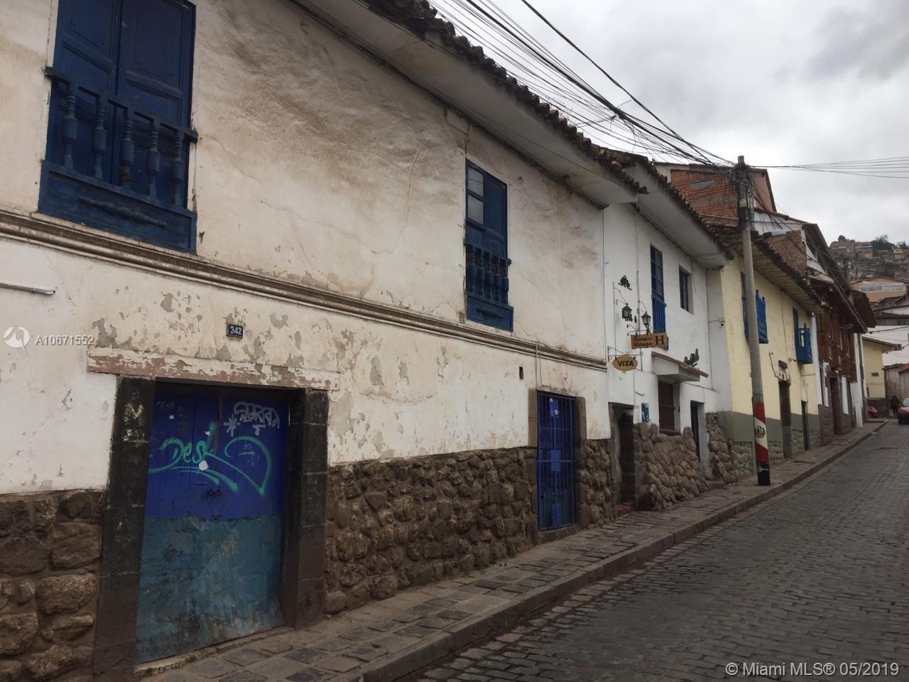 346  Qollacalle Cusco, Peru  For Sale A10671552, FL