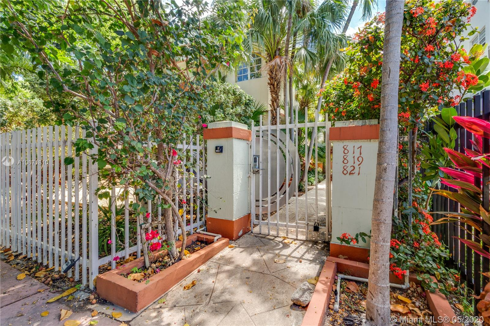 817  Meridian Ave #2 For Sale A10671810, FL