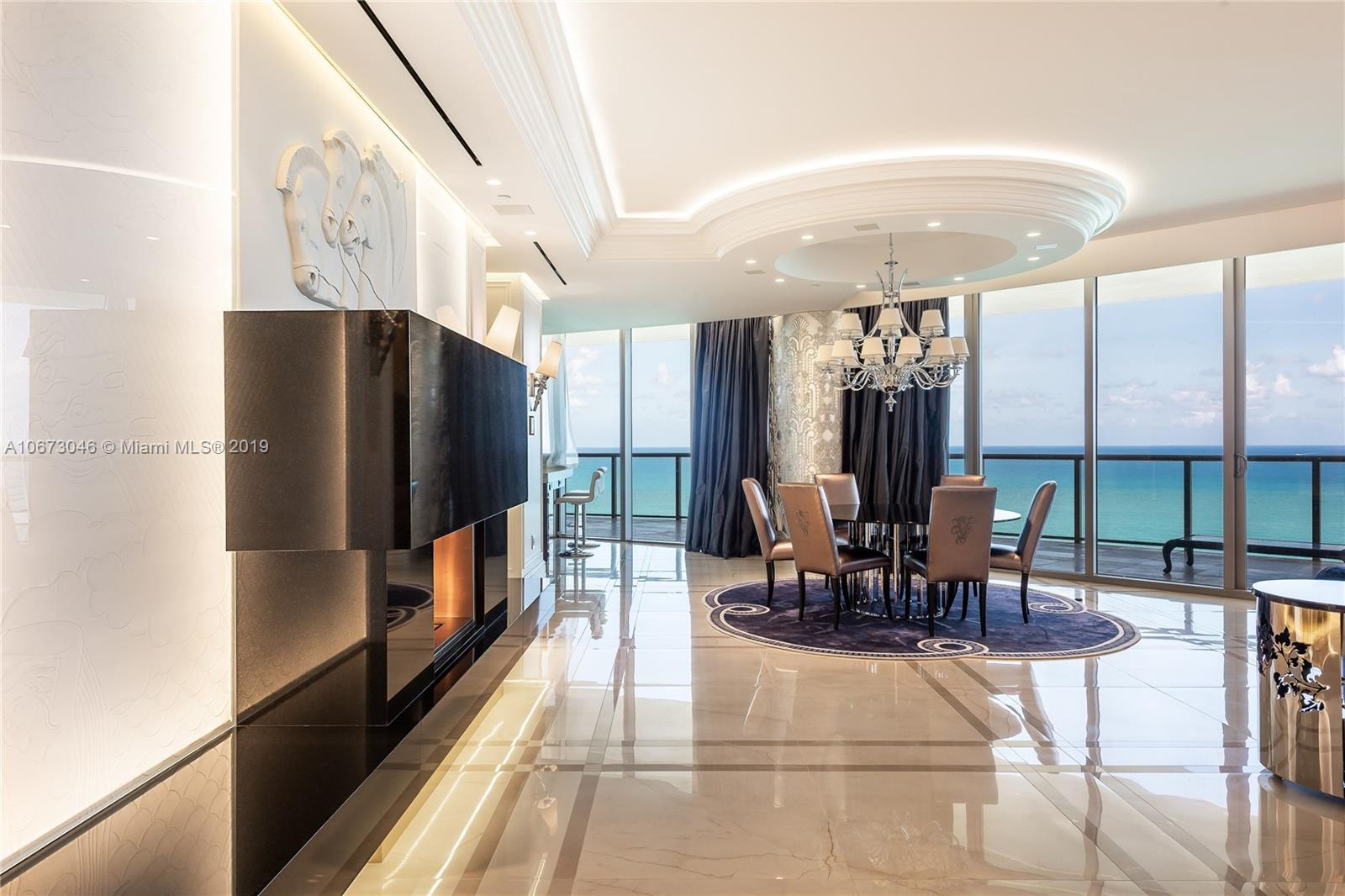 Do not miss the opportunity to own this rare 3/3.5 unit in the famous St. Regis of Bal Harbour. Designed with impeccable taste and style luxury condo offers spacious interior living area, marble floors, ultra sophisticated kitchen and amazing ocean front view. Fully automated smart home system. Residents enjoy VIP access to all St. Regis hotel amenities, world class spa/gym, cabanas, 24 hour concierge, valet parking, housekeeping, restaurants, room service, chef and white glove butler services.
