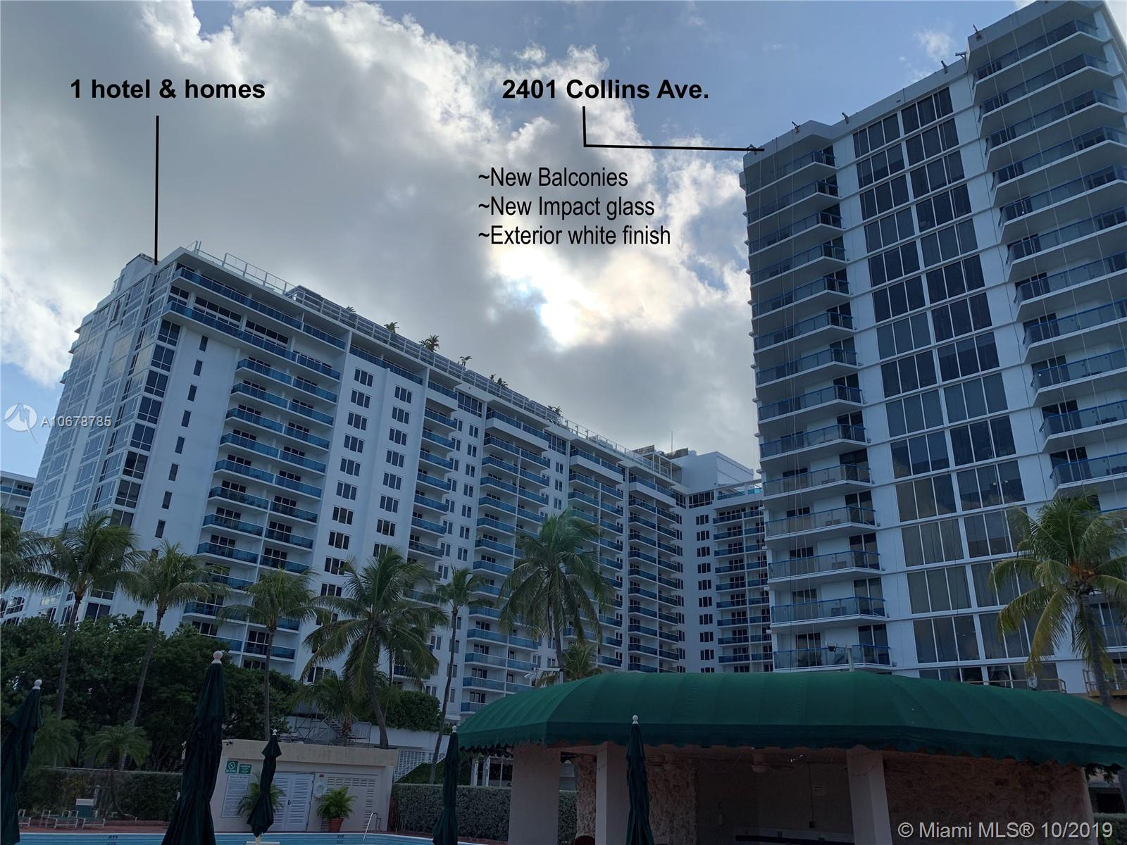 2401  Collins Ave #1111 For Sale A10678785, FL