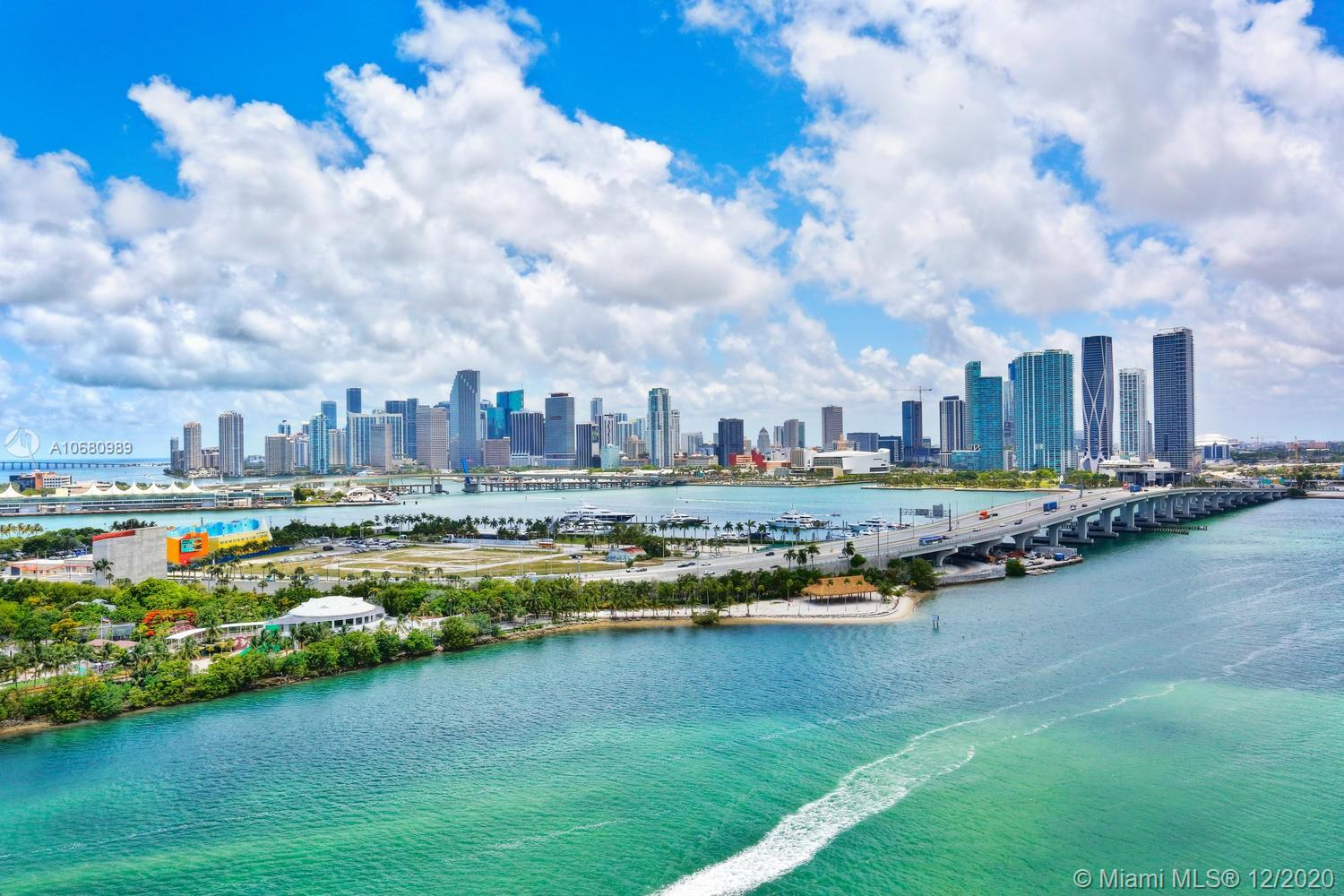 This desirable duplex corner unit with wrap-around enormous terraces is a diamond ready to be polished; the apartment is completely gutted and perfect for a buyer with vision that enjoys a project. Located on the Venetian Islands this property has unparalleled breathtaking views of Biscayne Bay, Downtown and Miami Beach.  Living area and downstairs bedroom open to private terraces.  Master bedroom is on the second floor with a private terrace as well.  Just come in and re-imagine it – everything can be configured and done to your taste!