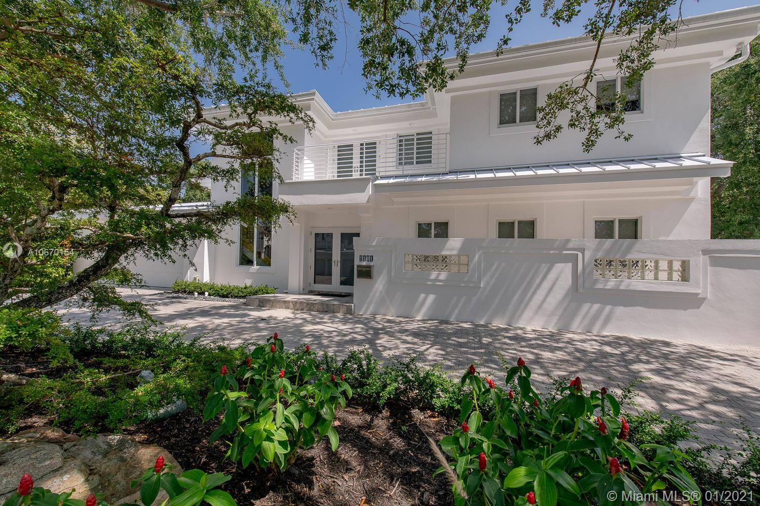 Contemporary waterfront home in the island community of Sunrise Key w/ gated automatic entry & security patrol. Home underwent a down to the studs renovation.  An entertainer's delight the home sits on an over-sized 13,084 sq/ft lot w/ unobstructed water views from every room. Vast landscaped grounds include a basketball court, private dock & over 3,500 sq/ft of patio areas all gated & fenced. The bright & spacious interior features multiple entertaining areas,  5 bedrms, 5 full bathrms & bonus rm.  Large master wing offers over 600 sq/ft w/ waterside balcony, sitting area, his & hers bath rooms, his & her closets. The perfect family home seamlessly blends indoor & outdoor living.   Private & secluded neighborhood near downtown, beaches, shops and ocean access with no fixed bridges.