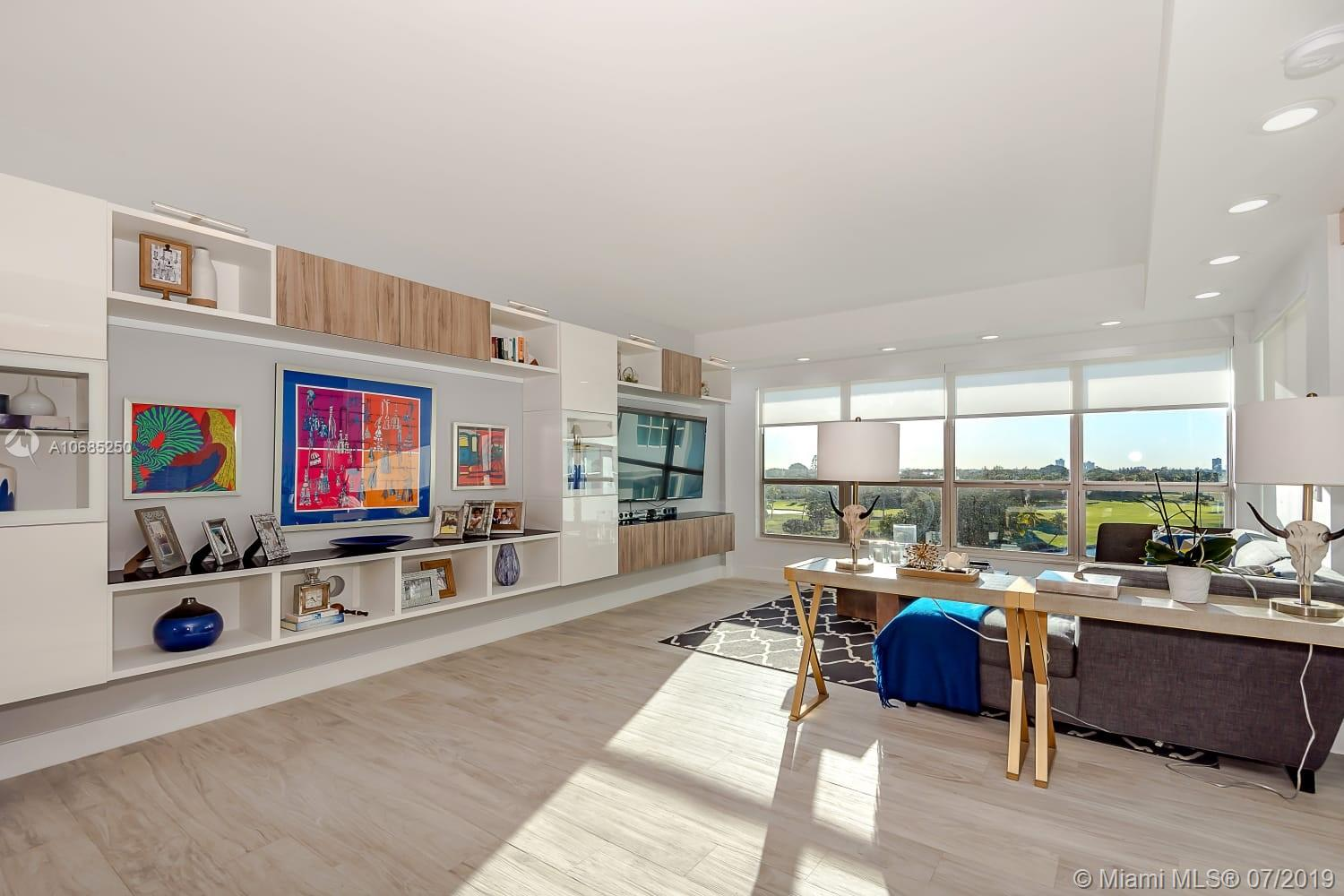 This 2 bedrooms 2 bath condo is located in one of the most exclusive areas of Miami Dade, the unit is 100% remodel by a professional designer and contractor Javier Perez. Please look at the pictures and be the judge of this fabulous condo.  The iconic Blair House was designed by A. Herbert Mathes (Fontainebleau/Standard Hotels) and is located a short stroll to the beach, parks and Bal Harbour Shops. Amenities include doorman, security, bayfront, swimming pool and Gym. Rated A schools in the area. Best views in the building! Impact insulated windows with low E to help with the heat from the sun.