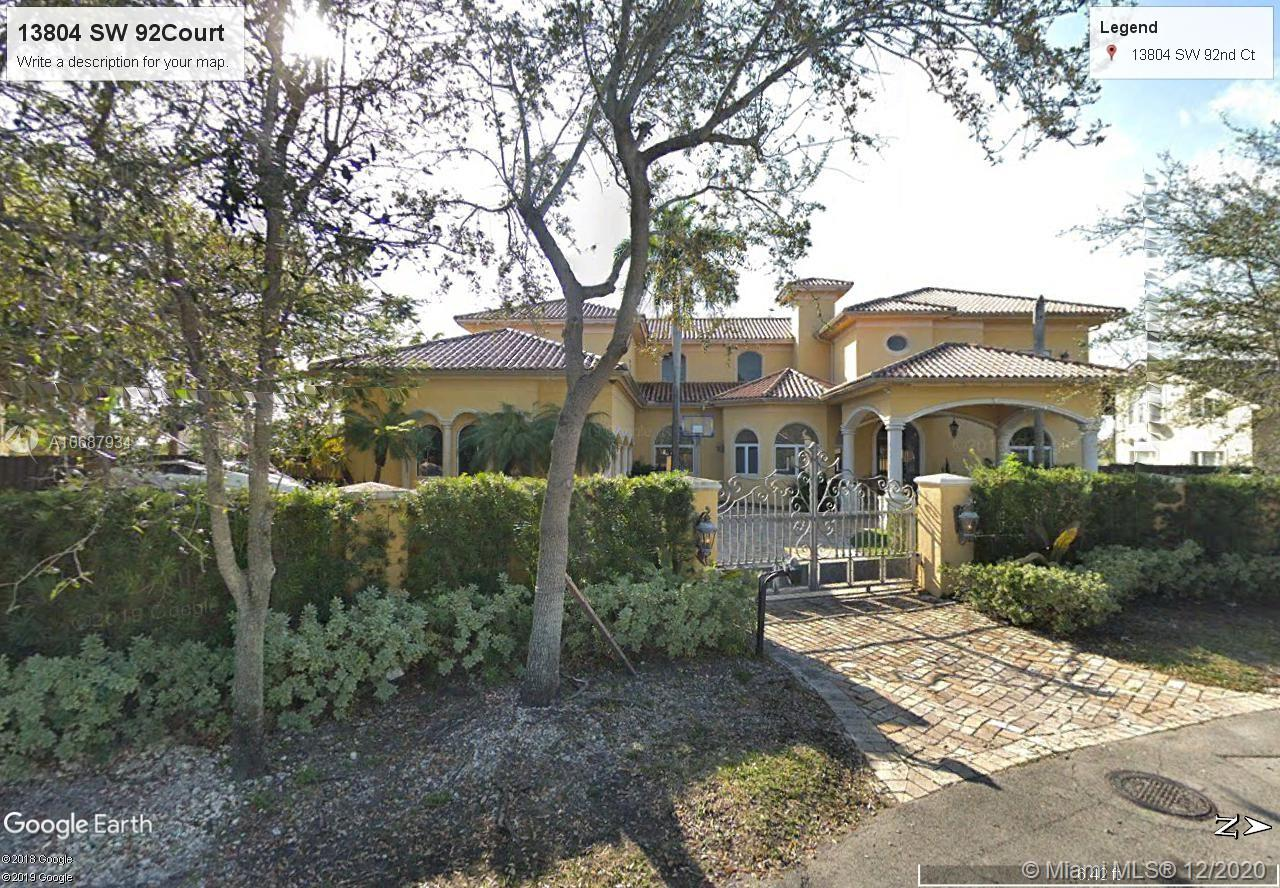 13804 SW 92 ct  For Sale A10687934, FL
