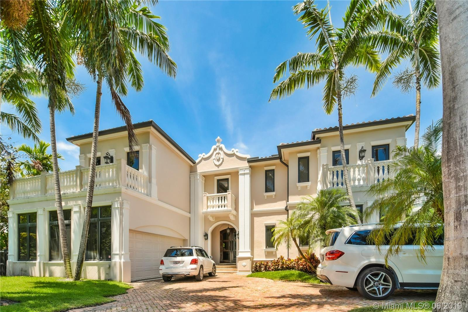 Stunning Mediterranean single family home in exclusive Bal Harbour Village. This impeccable home 6 bed plus maid 6.5 bath 6,279 sq ft  has been custom designed with only the finest finishes. Fabulous covered terrace with summer kitchen , oversized heated pool with salt water , hot-tub, cabana bathroom,  large 2 car garage and elevator. Neighborhood marina has boat slips available. Walk to A+ school, beaches, parks, marina, places of worship & world renowned Bal Harbour shops.