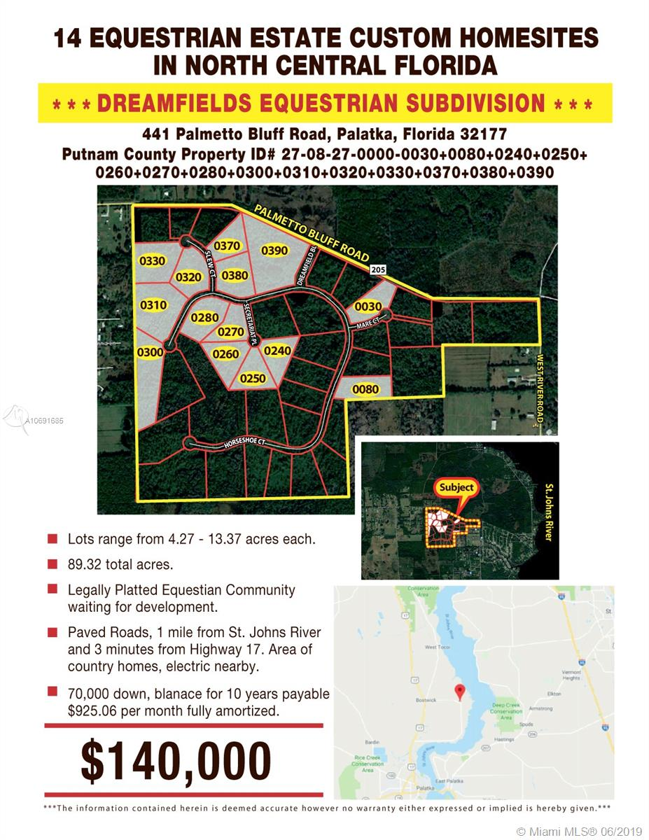 441 PALMETTO BLUFF RD, Palatka, FL 32177