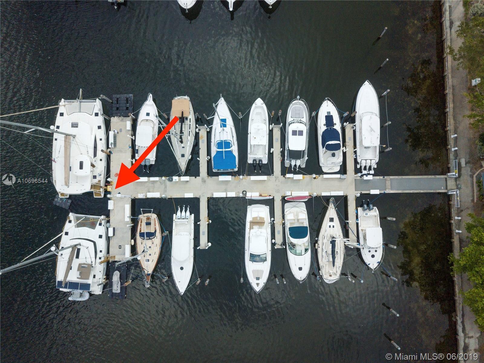 4  Grove Isle Drive Dock #D-8T,D-9T  For Sale A10696544, FL