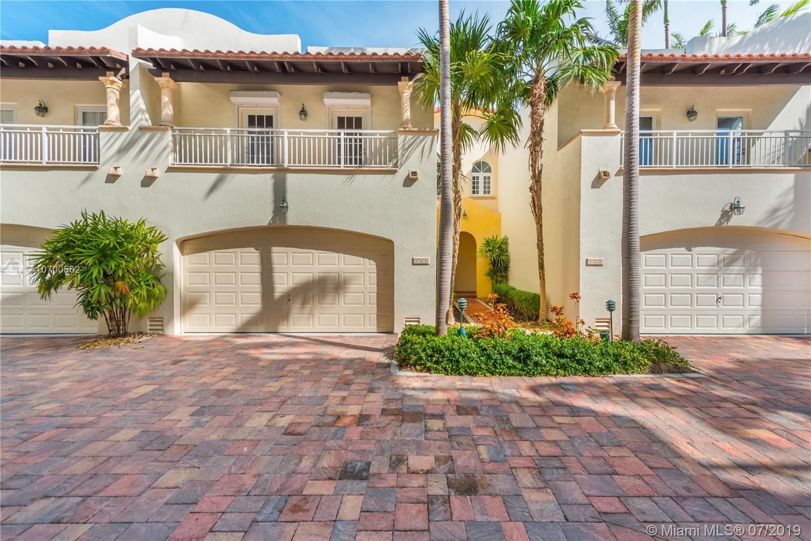 1415  Sunset Harbour Dr #109 For Sale A10700562, FL