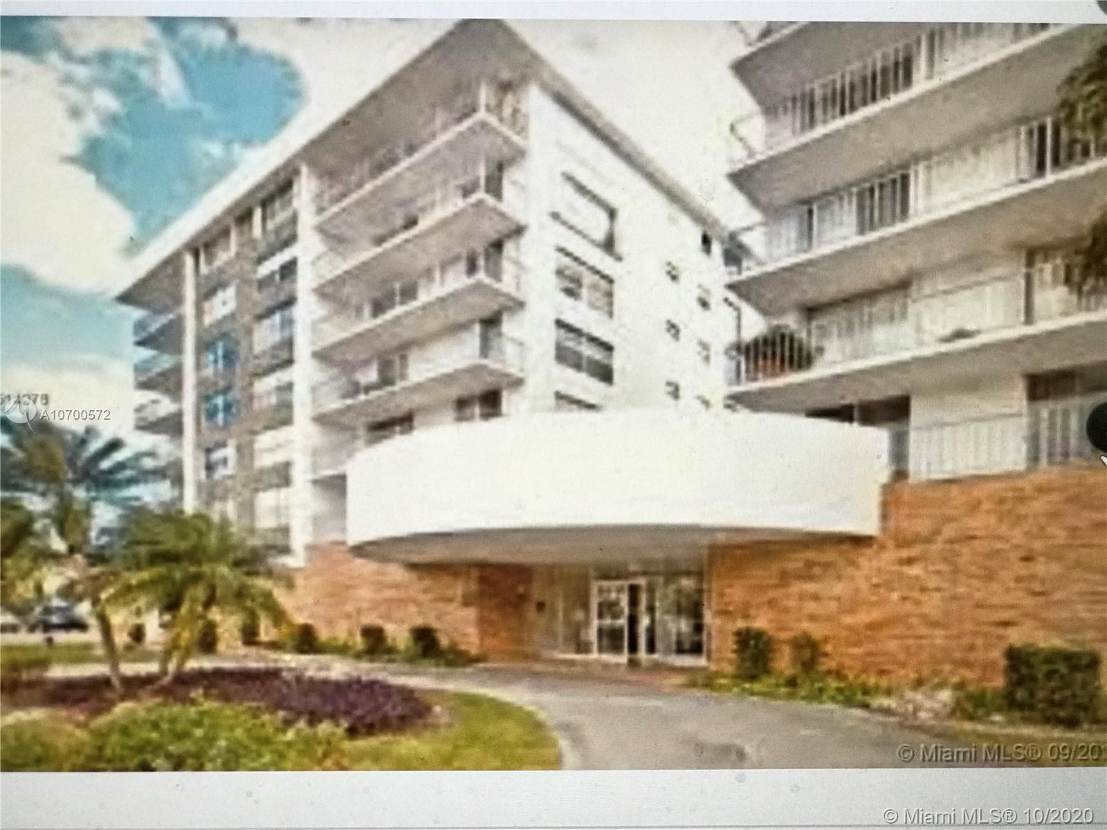 Enjoy a larger 2/2 Corner condo, with open Balcony ! . . . Master bedroom with 2 walk in closets ! . . . 2 covered parking places ! . . . a secure decorated  Lobby, pool, elevator, recreation room with kitchen & exercise equipment ! walk to Broad school up to 8th grade ! . . . Shops of Bal Harbour, shopping, dining & Beach ! . . . easy to show !