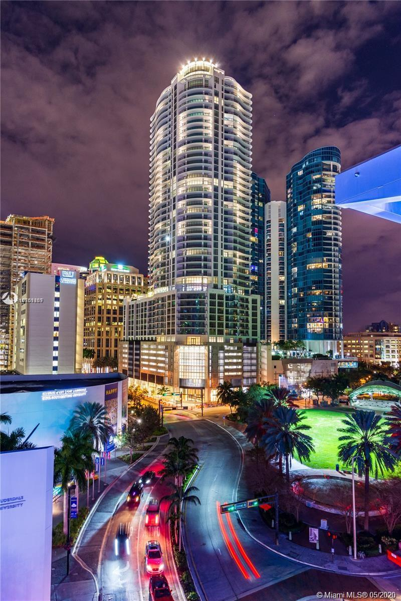 The newest & tallest building in downtown is move in ready! The ultra-luxurious Estate plan is only available on floors 39 and above, affording it the most direct views over the Fort Lauderdale skyline to the ocean. Cascading, floor to ceiling sliding glass doors lead to an expansive terrace, spanning 84 feet in length with access to the open concept great room and dining room as well as the family room. The master suite features stunning views from a private terrace as well as an over-sized walk in closet and luxuriously appointed bathroom with separate tub and shower. With large format porcelain flooring throughout, a gourmet kitchen with European cabinets, quartz countertops, top of the line Jenn Air appliances, a convenient wet bar in the family room and Grohe fixtures.
