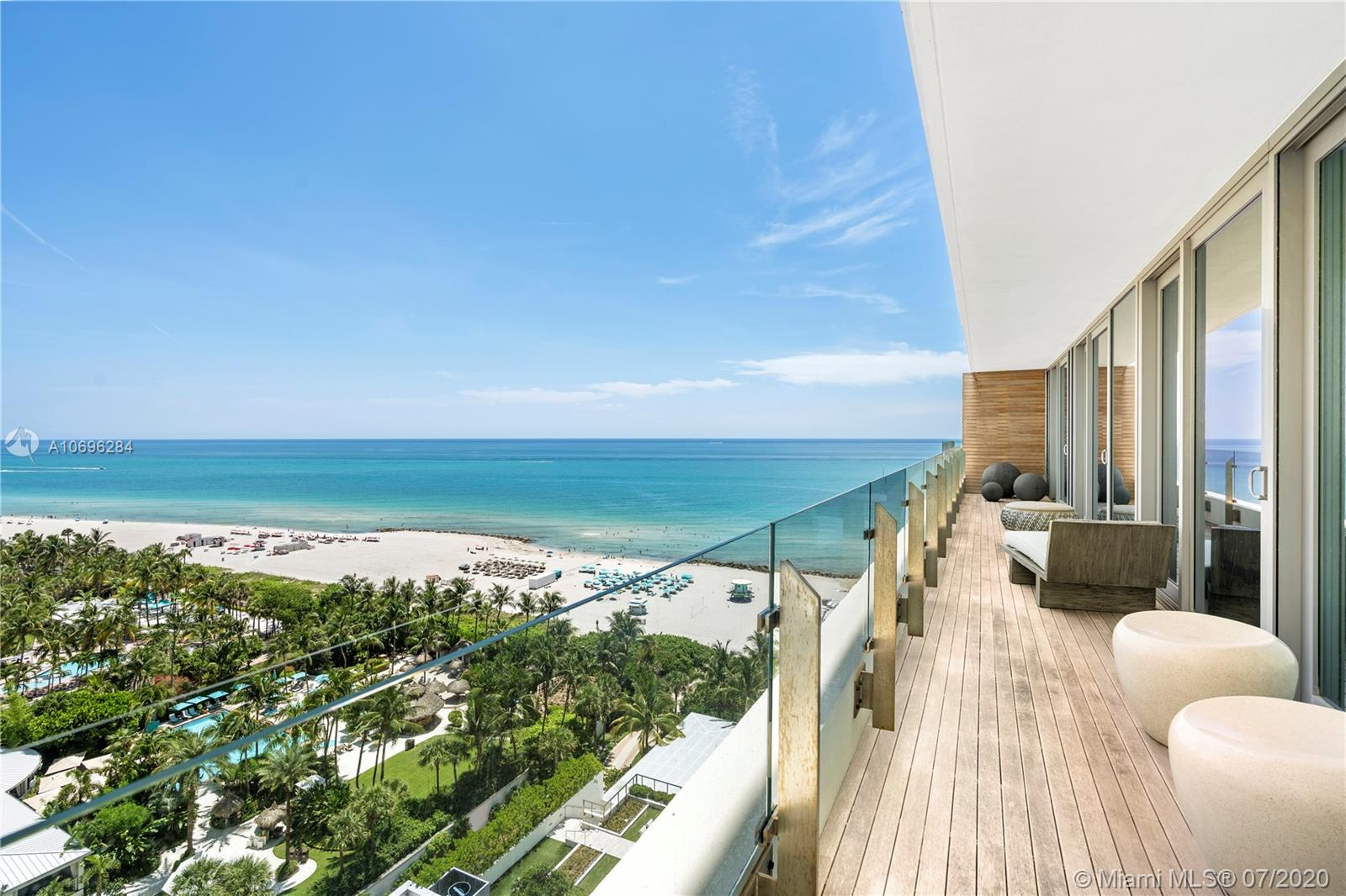 Edition Residences, a private Residence component of Edition Hotel in Miami Beach. Only 26 units. Ian Schrager & John Pawson conceived lifestyle space. Furnished 2 Bedroom/ 2 Bathroom Home In The Sky with Ocean Views. The Residences are part of The Miami Beach Edition; however, Residences have their own dedicated private entrance as well as an anonymous celebrity entrance, for ultimate privacy. Exclusive access to all services, privileges and amenities of the Edition Hotel….from Jean-Georges on-property restaurant to world renowned spa, bowling alley, and ice-skating rink. Spend the day at the pool or beach and call this property your home.