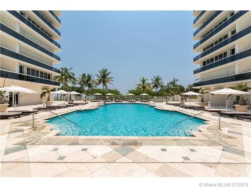 CHARMIN UNIT IN OCEANFRONT BUILDING ACROSS FROM BAL HARBOUR SHOPS! FULL SIZE 2 BEDROOM 2 BATH WITH A PRIVATE ELEVATOR. MARBLE FLOORS IN MAIN AREAS AND WOOD IN THE BEDROOMS. LARGE EAT-IN KITCHEN WITH DOUBLE SINK, SUBZERO REFRIGERATOR, GRANITE COUNTERS AND ISLAND. BUILDING IS FULL SERVICE WITH POOL, BEACH, CONCIERGE & VALET FOR 2 CARS AT NO CHARGE. WALK TO CONVENIENT SURFSIDE SHOPPING DISTRICT. UNIT IS CURRENTLY RENTED SO PLEASE ALLOW 24 HOURS FOR SHOWINGS.