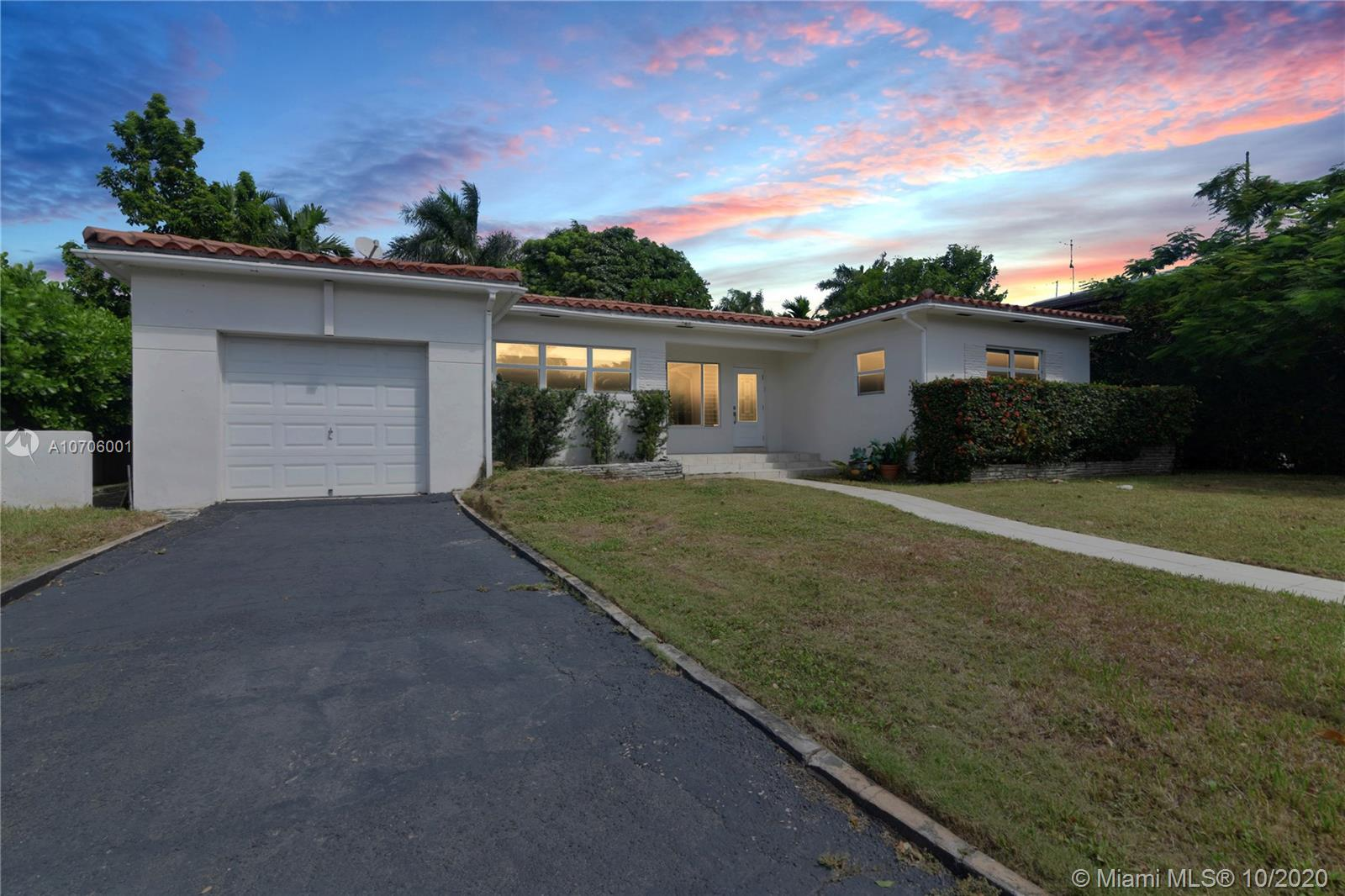 Beautiful recently updated home in exclusive Bay Harbor Islands. Remodeled bathrooms and kitchen. 3 Bedroom, 2 Bath, and a HUGE backyard with delicious mango, avocado, and papaya trees.