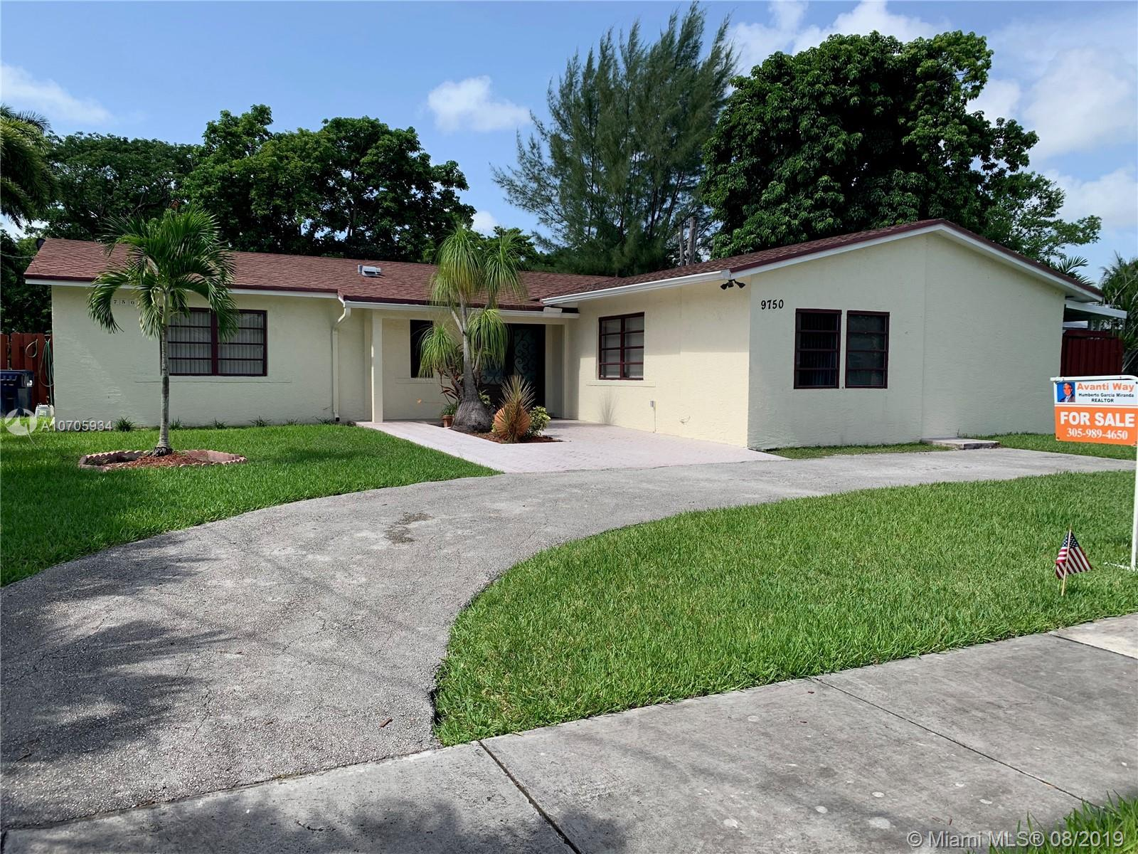 9750 SW 189th St  For Sale A10705934, FL