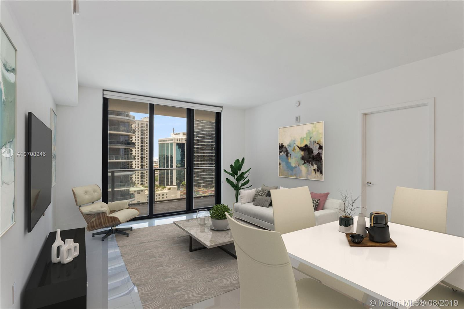 You are in for a pleasant surprise if you are considering making 1010 Brickell your home.  This two bed two bath is fully finished with blinds, tile flooring, closets and finished balcony.  Just wait until you see the finishes such as the European-inspired kitchen and the floor to ceiling windows that offer expansive views of Brickell. There is also enhanced sound proofing between the units to ensure your privacy. There are two floors of amenities offering a spa, fitness center with Peleton bikes, children's playroom, Rooftop lounge for ordering food and drinks, indoor and outdoor pools, jogging trail, basketball, racquetball, virtual golf, business center and concierge services.  There are many more amenities, please check in photos for a detailed list.  Visit today!