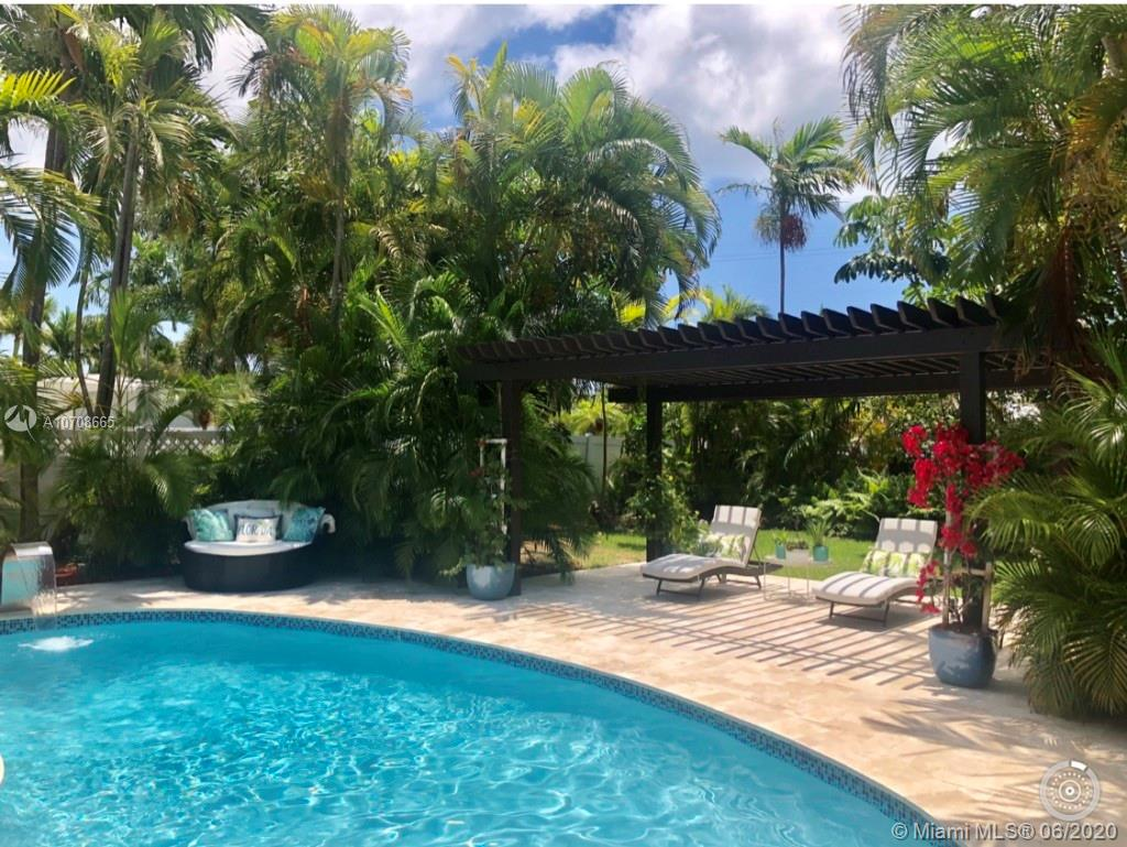 Private, tropical oasis in sunny Fort Lauderdale.  COMPLETELY RENOVATED 3BR/2BA on a HUGE double lot in the Exclusive Harbor Beach Community! Exceptional Location, close to the beach. Just Minutes from Las Olas and the World Famous Ft. Lauderdale Strip! All new plumbing, roof, electrical, walls, tile, appliances, impact windows, split AC, steam shower, luxurious bathtub. Beautiful secluded pool area with new travertine pavers. EVERYTHING inside is new! Open floor plan, stunning modern kitchen. This is a practically a resort!