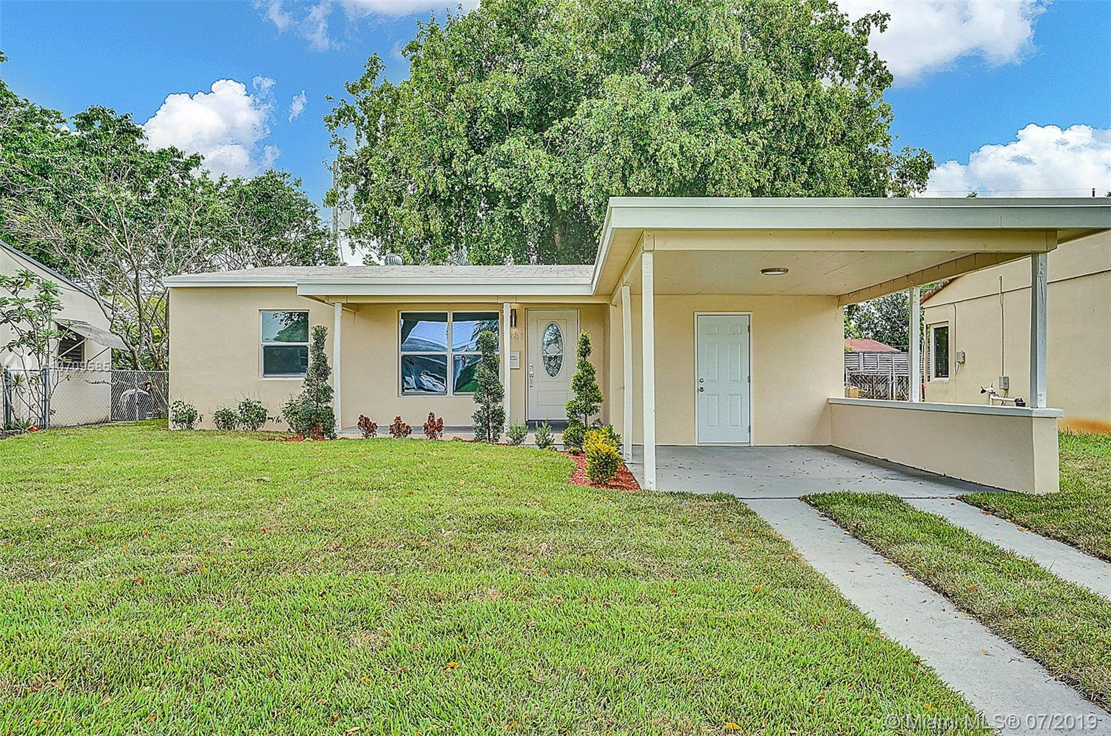Beautifully remodeled 3/2 home in the heart of Oakland Park! Perfect turn-key starter home or vacation rental opportunity! NEW hurricane impact windows/doors, NEW 2019 Goodman A/C unit, & newer 2017 Shingle roof! Custom Kitchen, bathrooms, floors, and recessed lighting throughout. Kitchen features quartz counter-tops and brand new Whirlpool s/s appliances + Samsung washer/dryer set! Freshly painted inside/out! New irrigation system +sod/landscaping in the front and backyard, along with a large shed for storage! Minutes away from the beach, shopping plazas, etc. Hurry this home wont last long!