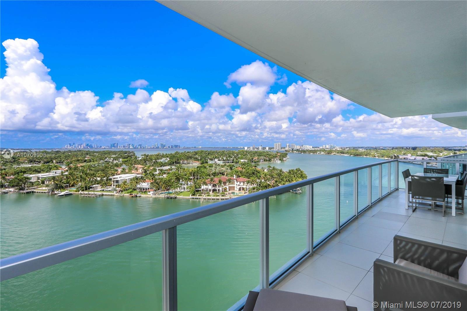 PLEASE MAKE SHOWING REQUESTS AT LEAST WITH MINIMUM  24 HOURS NOTICE. Best Intracoastal exposure for a 2 bedroom 2 baths in the building with direct water views from every room!. The perfect spot for amazing sunset views from your tranquil and expansive terrace. Tastefully furnished and ready to move in!. Excellent location just a few steps from the beach, restaurants and shops. Enjoy this boutique condo's amazing amenities such as Fitness Center with state-of the-art gym, Resort style Pool, 24-hour valet and security, 1 assigned parking, 24 hours security and much more.                                        ******NEED 24 HOUR NOTICE TO SHOW******