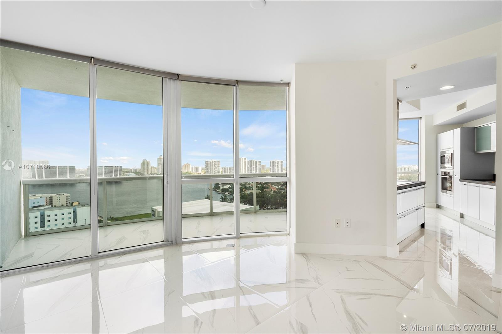 REDUCED! BEST PRICE PER FOOT !  BE THE FIRST TO OWN AND OCCUPY THIS BEAUTIFULLY RENOVATED 2 BEDROOM/2.5 BATH CORNER UNIT!! AMAZING VIEWS FROM EVERY ROOM, ENJOY  THE OCEAN VIEWS FROM THE BIG EAT IN KITCHEN, MASTER AND SECOND BEDROOM AS WELL AS UNOBSTRUCTED INTRACOASTAL AND CITY VIEWS. Large living room great for entertaining, plus dining area and large eat in kitchen, huge master bedroom and master closet. Just replaced beautiful large slabs of carrara porcelain and modern baseboards throughout..even the bathrooms! Freshly painted. Brand new and Ready for your client to move in! Easy to show!