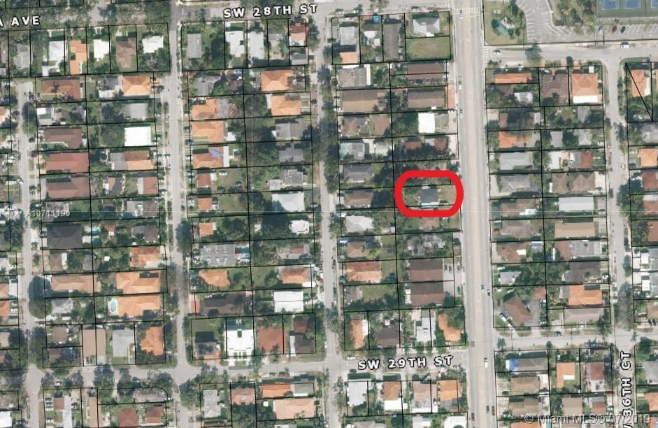 Location, location, location….Excellent investment opportunity located right on 37 Ave.between Bird Road and Coral Way, within minutes of Coral Gables, Coconut Grove and walking distance to Metro Rail and Douglas Park. This is a great occasion for investors, builders and those looking to expand their real estate holdings.  The property lot is close to 8,300 sq ft and its zoned T4L (Miami 21 Plan). The lot has approx 54 ft front and 150 ft depth.The duplex has two – one-bedroom units with one bathroom each, kitchen, closets and plenty of backyard. The roof was replaced completely only 2-3 years ago.