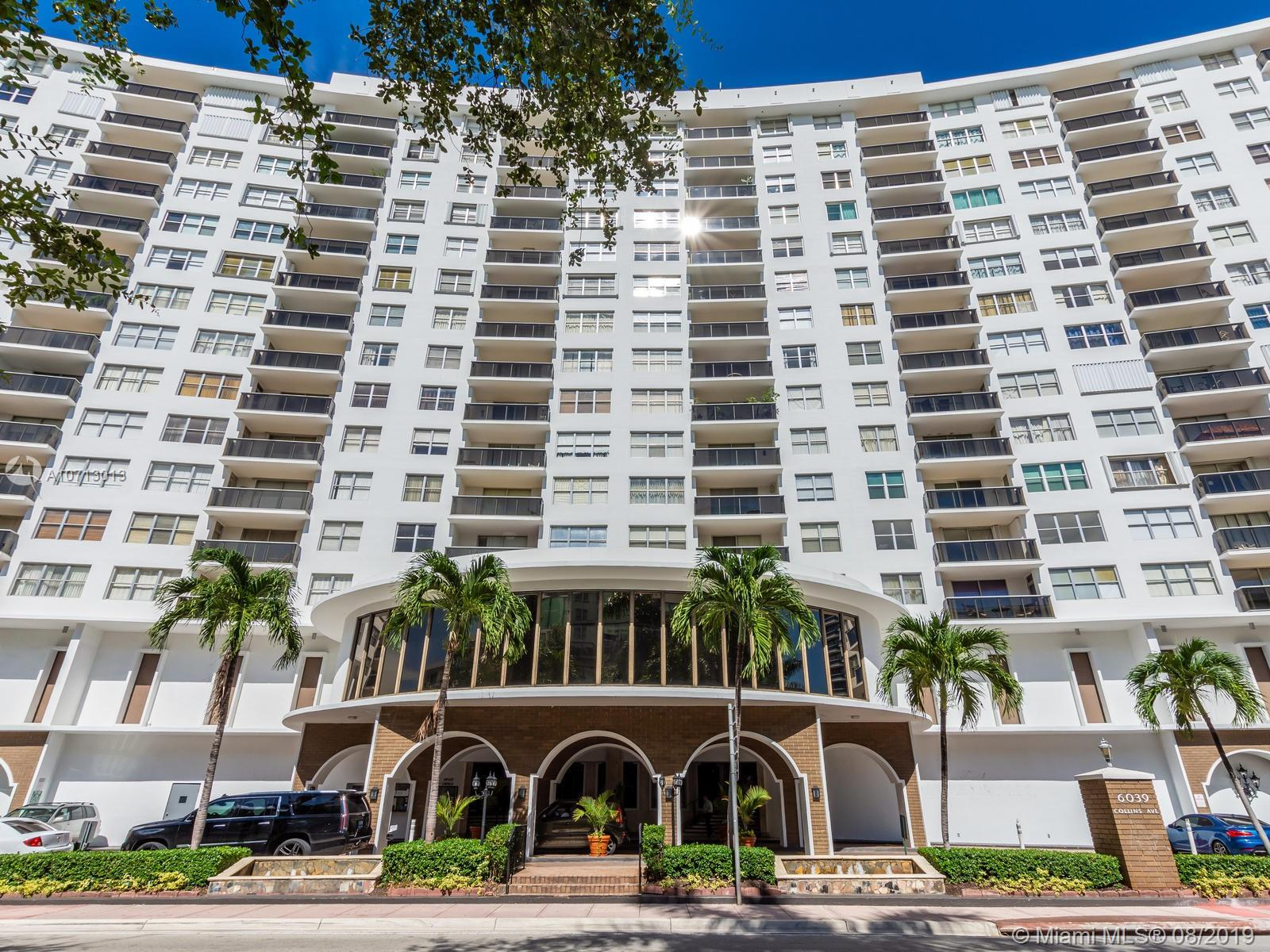 6039  Collins Ave #1526 For Sale A10713013, FL