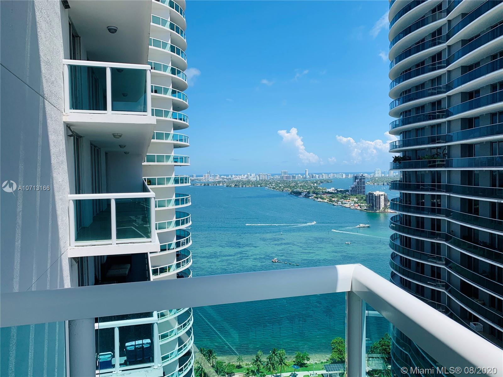 """Motivated Seller! Submit your offer! Amazing and upgraded apartment at the 1800 Club in Biscayne Blvd. Featuring 2 bedroom + PLUS DEN (spacious and closed) which can be used as """"ANOTHER ROOM"""" and 2 Bathroom. Two beautiful open balconies overlooking the bay and the city skyline! Building amenities includes Gym, Sauna, Steam Room, Game Room, Party Room, Common Areas, Heated Pool, SPA, BBQ Area, Fiber optic wiring in the entire building, free WiFi available inside the building.  All closets are made of wood. Concierge Services, Valet parking and the lowest HOA cost in the area, includes Wi-Fi, cable/tv, water and trash.. Located across the amazing Margaret Pace Park! . PLUS: WITH EXTRA STORAGE SPACE ON THE 6tH FLOOR. It is also available for rent $3,500 MLS A 10842594 """""""