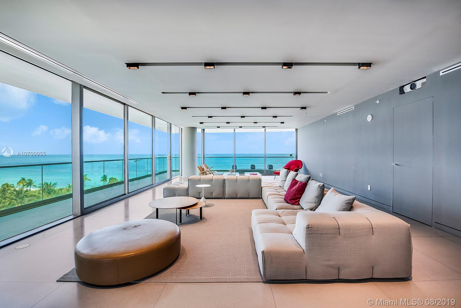 Turn-key direct Oceanfront corner residence at the exclusive Oceana Bal Harbour features expansive wrap around terrace with sunrise & sunset views. Master bedroom faces the ocean with his/her walk-in closets and large master bath. Dada gourmet kitchen with large calacatta gold island and gaggenau appliances. Separate breakfast area and staff quarters. No expense was spared to finish this gorgeous apt; dropped ceilings, full home automation & custom millwork. Super luxurious and full service building with lavish amenities including private restaurant, tennis court, full spa, state of the art fitness center, concierge, oversized pools, cabanas and more. Includes 3 valet parking spaces. walking distance to Bal Harbour shoppes and fine restaurants