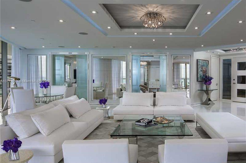 "REDUCED TO SELL NOW!!! Ultra Chic, Pristine & Completely Renovated 3 Bedroom, 3 Bath, PLUS Powder Room...Ocean Front, Pie Shaped Unit in the ""Center Tower""...This Luxurious Unit was Designed to Perfection...Beautiful Marble Flooring & Limestone Walls...5 TV's Located in Bedrooms, Master Bath & Living Room...Great Details: Fabulous Closet Space, Surround Sound, LED Lighting Thru-out, including Bathrooms, Electric Blinds & a 7' Chrome Bar...This is Living at its Finest, on the Beach, in the Most Elegant Building in Miami...Also Available for Annual Lease..."