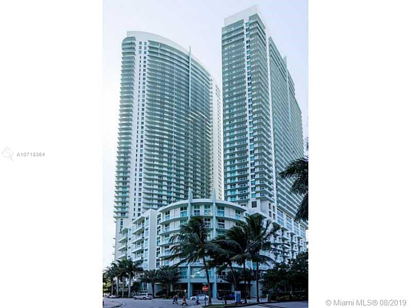 """Great for investor Leased until March 2021!!  Great studio with amazing water views in beautiful & upscale Quantum on the Bay. Located in south tower """"L"""" shaped balcony, window has south view of Miami. Amazing view of the bay through sliding glass. Full service building which includes: 24 hr security, pool, gym, sauna, gym, theater room, lounge. Located in one of the most desirable areas , walking distances to dining, shopping, theaters, + more.basic cable & internet included."""