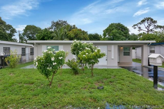 Location!!! Completely remodeled 2/1 central located, minutes away from Ft. Lauderdale airport, next to I-95 and 441. New kitchen with Stainless Steel appliances, new central A/C, new impact windows and doors. Large fenced backyard with room for a pool. No HOA.