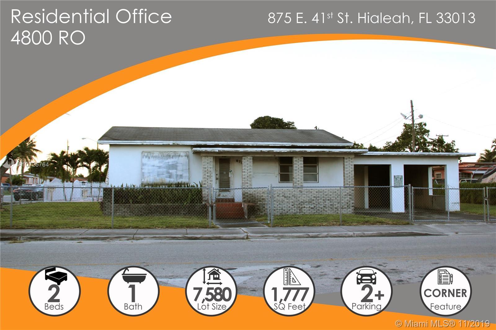 875 E 41st St  For Sale A10725764, FL