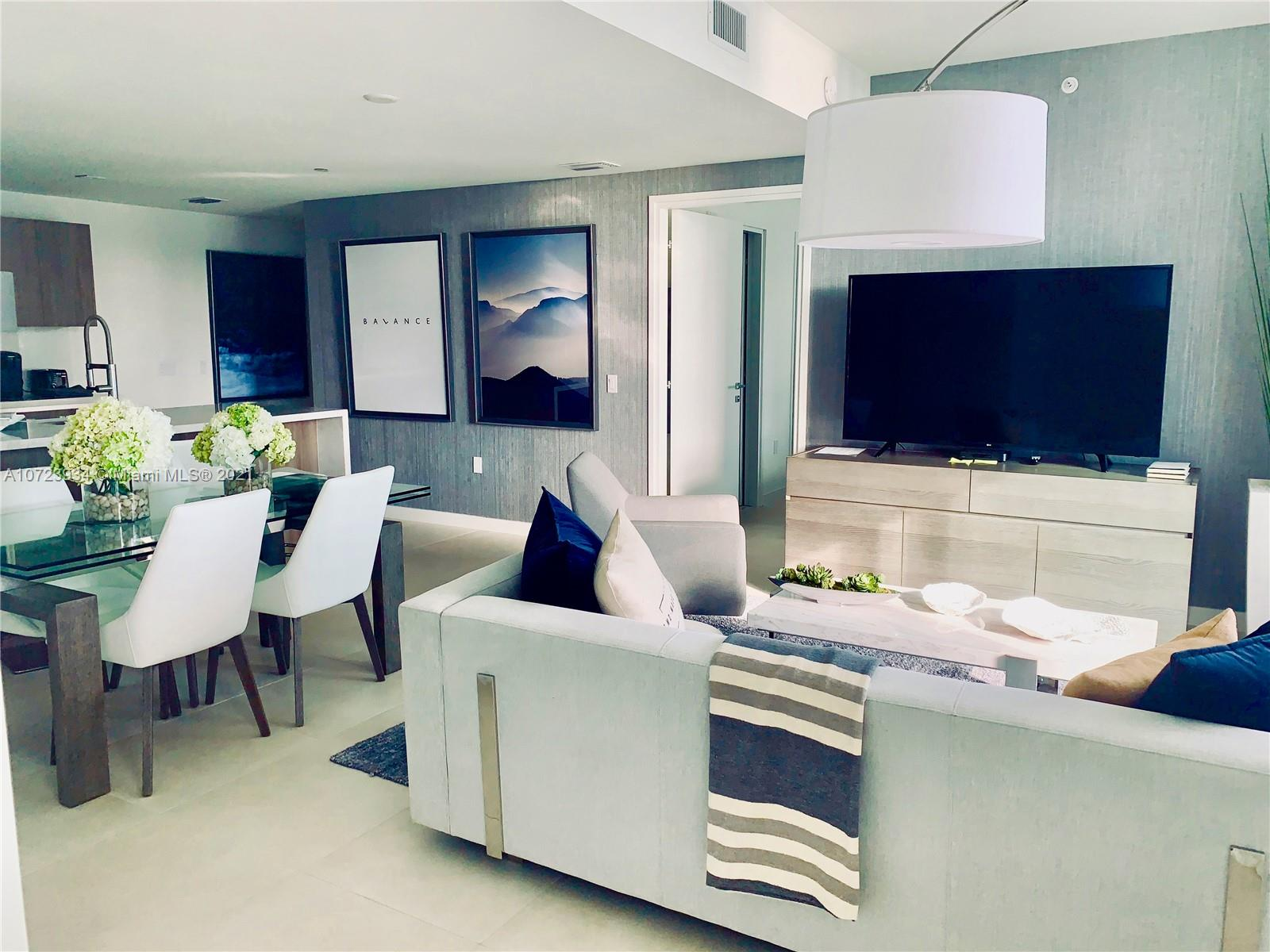 Magnificent newly-built 7th floor EAST facing ocean-view condo, 1 bedroom-1 bath, living-dining + den with Murphy bed, balcony, turn-key completely furnished with Gale Signature package by Now by Steven G, located in sought-after Ft. Lauderdale North Beach Village, one easy block from the beach! Marble flooring throughout, marble bathroom, high-end kitchen appliances with Italian cabinetry, washer/dryer, basic cable/internet/local phone. Current beach service and soon-to-open signature restaurant as part of the Gale landmark restoration project. Offering short-term lease (minimum one month) , up to 6-12 months.