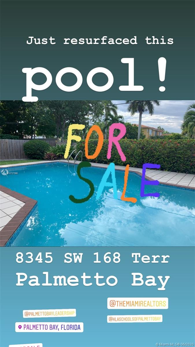 8345 SW 168th Ter  For Sale A10727998, FL