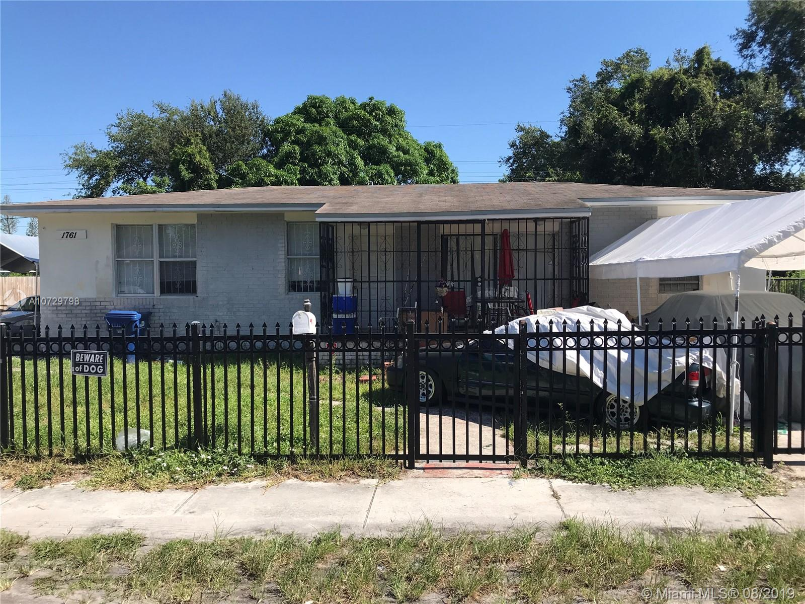 1761 NW 82nd St  For Sale A10729798, FL