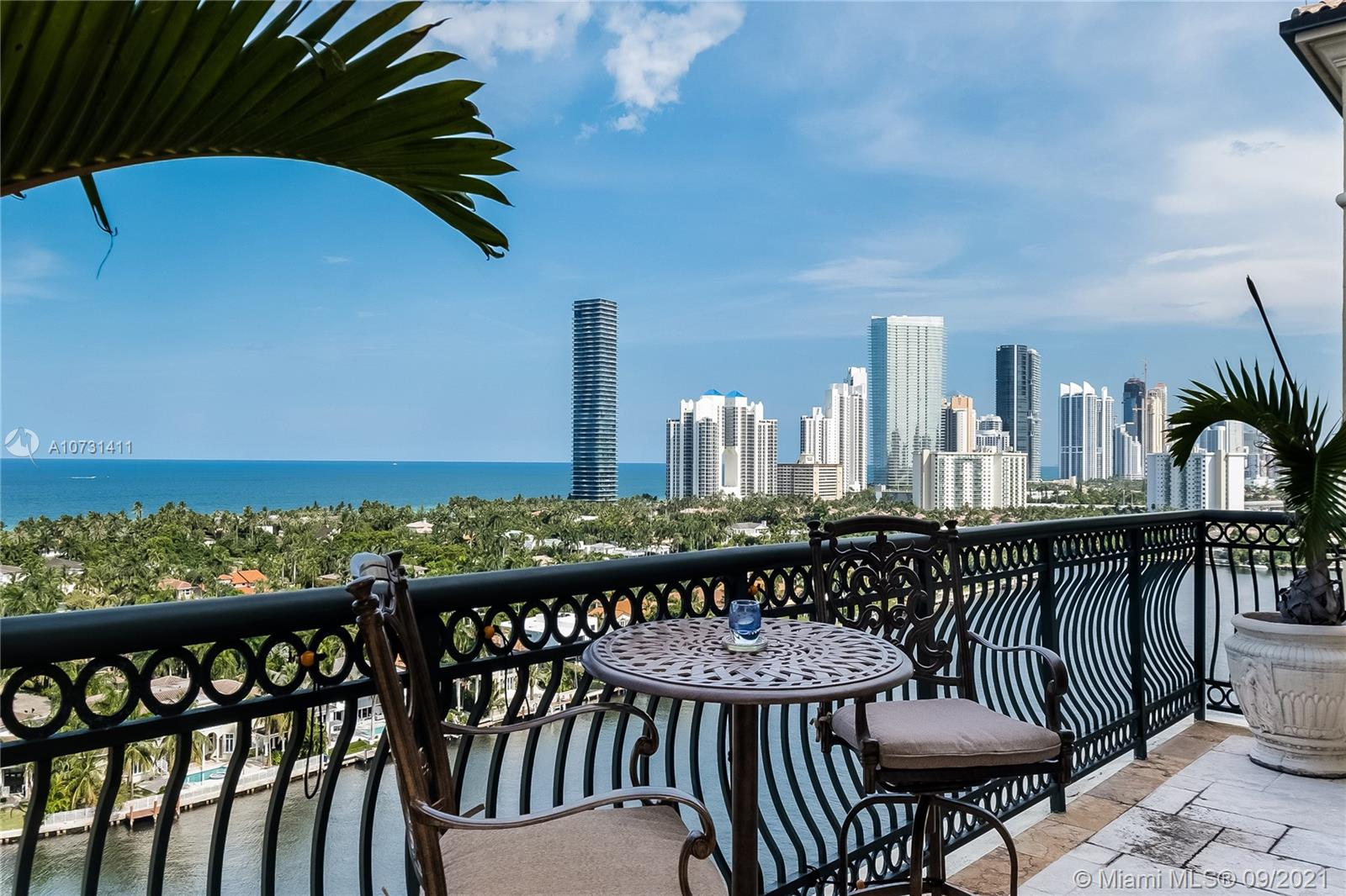 AN OPPORTUNITY OF A LIFETIME WITH AN IMPROVED PRICE! IMAGINE LIVING IN A HOME THAT OFFERS A FULL SERVICE, WORRY FREE LIFESTYLE WITH 9,600SF OF INDOOR LIVING SPACE SURROUNDED BY WALLS OF GLASS WITH THE MOST DESIRED VIEWS TO THE INTRACOASTAL AND OCEAN LEADING TO 2500SF TERRACES. THIS 2-STORY PH, WITH PRIVATE ELEVATOR LANDING, TOPS A 14TH STORY BOUTIQUE CONDO TUCKED IN THE LUXURIOUS COMPLEX OF PORTO VITA.  SMART HOME! OFFERS 5 BED/7.5 BATH,OFFICE,FAMILY,LIVING AND FORMAL DINING ROOM,BREAKFAST, GOURMET KITCHEN & SERVICE HQ. 2 MASTER BEDROOMS, 1 IN EACH FLOOR. CULTIVATE THE IDEAL ENVIRONMENT FOR RELAXATION, HOSTING PARTIES OR CHILDREN'S HOMEWORK AS YOU SELECT THE PERFECT AMBIANCE FOR YOUR ELECTRIC SHEER SHADES, SOUND SYSTEM AND LIGHTING. SAFE PERSONAL TOURS AVAILABLE. A TRUE MANSION IN THE SKY!