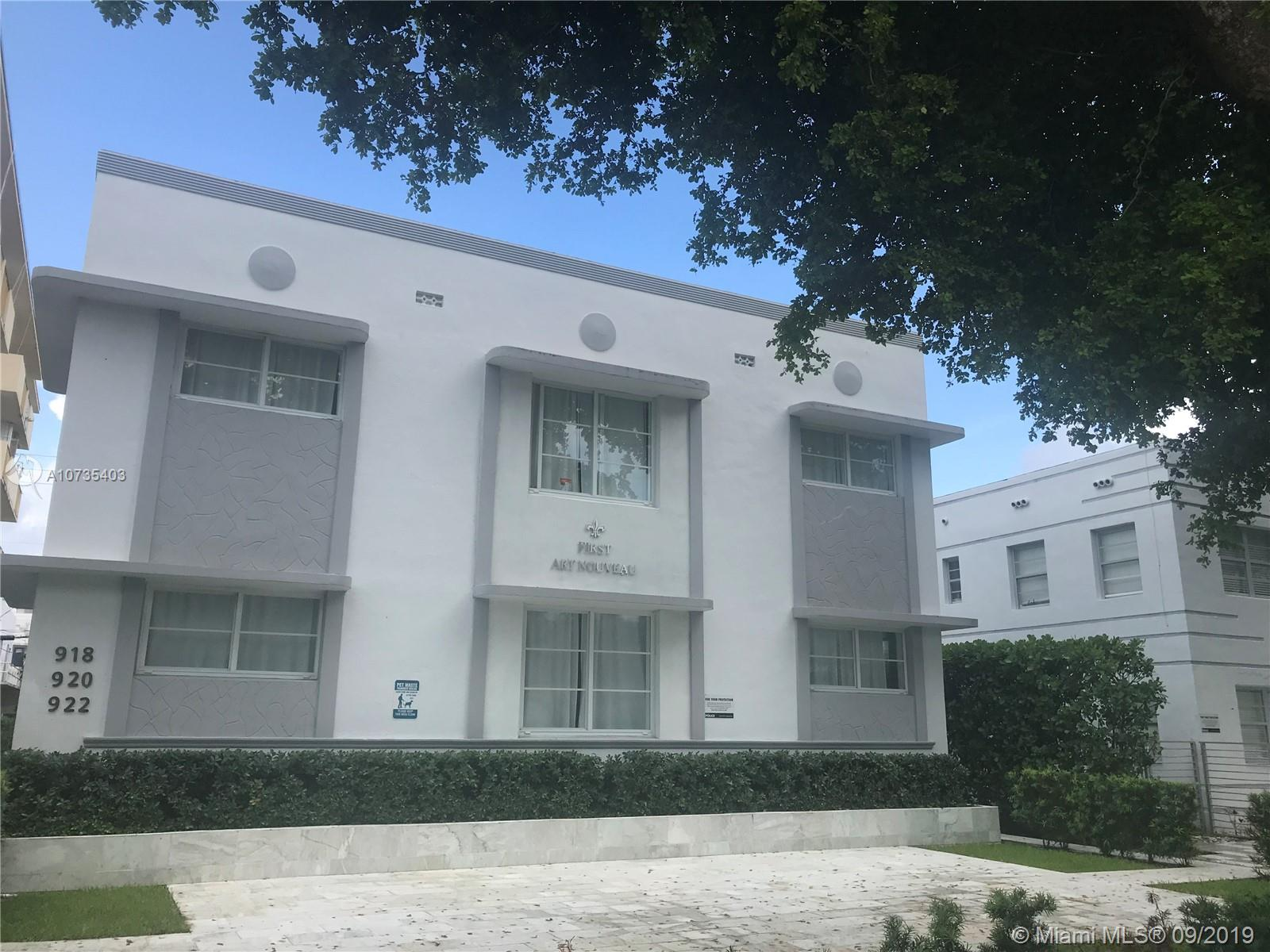 920  Jefferson Ave #4 For Sale A10735403, FL