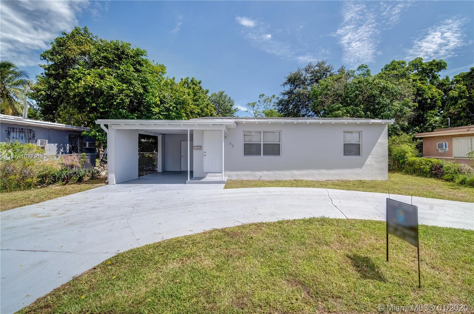 65 NW 125 St  For Sale A10729183, FL