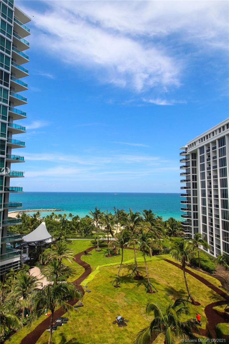 Spectacular remodeled ocean front 2/2 with lots of custom built ins, stainless steel appliances, 2 parking spaces, 1 large storage space, remodeled by New York decorator. One of a kind unit a must see! Unit is 1,056 SQ FT.