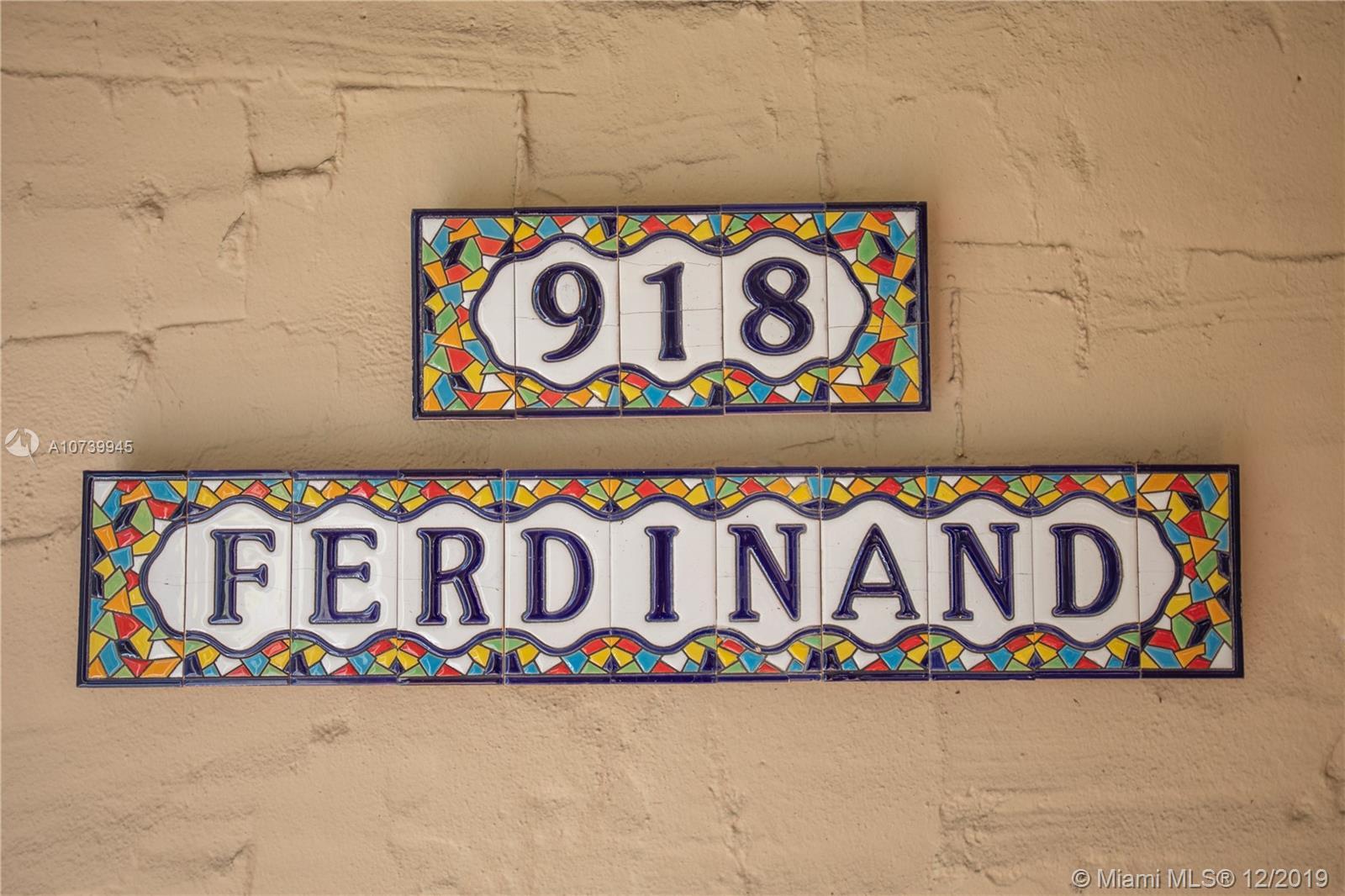918  Ferdinand St  For Sale A10739945, FL