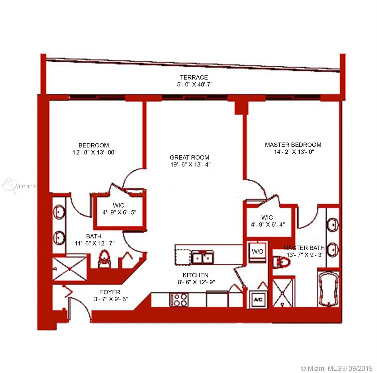 500  Brickell Ave #3805 For Sale A10740114, FL