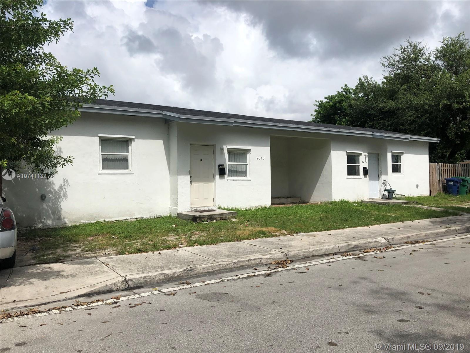 8040 NW 12th Ave  For Sale A10741132, FL