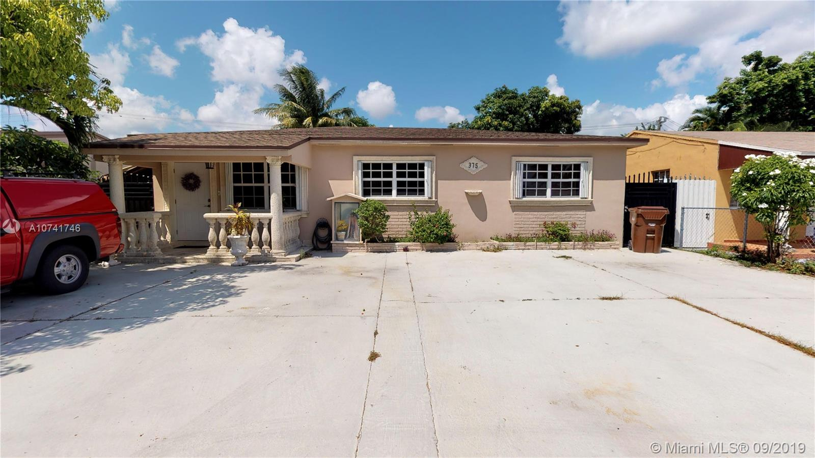 HUGE REDUCTION MOTIVATED SELLER!Remarkable, Unique 4/2 Property + LEGAL 2/2 Guest/ in-laws House In The Heart Of Hialeah. Huge kitchen with stainless steel appliances, granite countertops, tile flooring, detailed crown molding throughout. Main house is 4/2 and guest house a spacious 2/2. Outdoor screened in patio includes kitchen and laundry room. NEW ROOF, NEW A/C, accordion shutters on all windows to keep insurance low. Beautiful backyard with lush garden, and large covered sitting area. Driveway spacious enough tp fit up 8 cars. Centrally located in the Heart Of Hialeah minutes from Amelia Earhart Park, right off East 49th st. House is priced to sell fast!.
