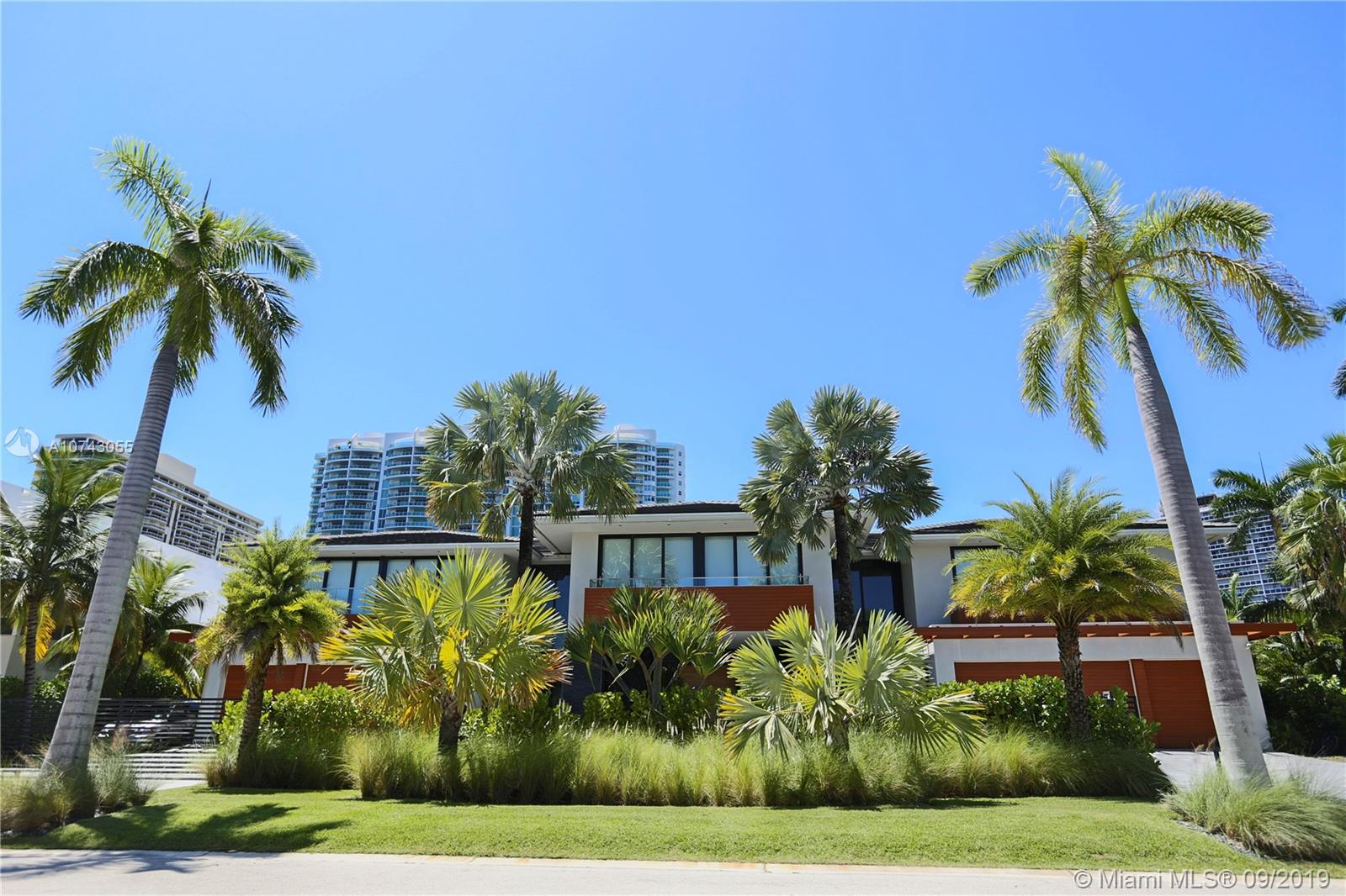 This rare opportunity to own one of the largest most luxurious Contemporary architecture home in Golden Beach. This modern 12bed/12.5bath home is situated on a unique oversized 22,688 SQ. FT. Intercostal Lot with 137.5 FEET ON THE WATER. This home features a personalized gym/spa with a Jacuzzi, Sauna and workout room, spectacular pool area with a beautiful gourmet kitchen, 137.5 feet of dock with a jet ski lift. This home is equipped with a elevator, infinity pool with a circular driveway that gives you access to eight car garages. The postcard boat doc with this large canal access makes it defiantly worth your visit.