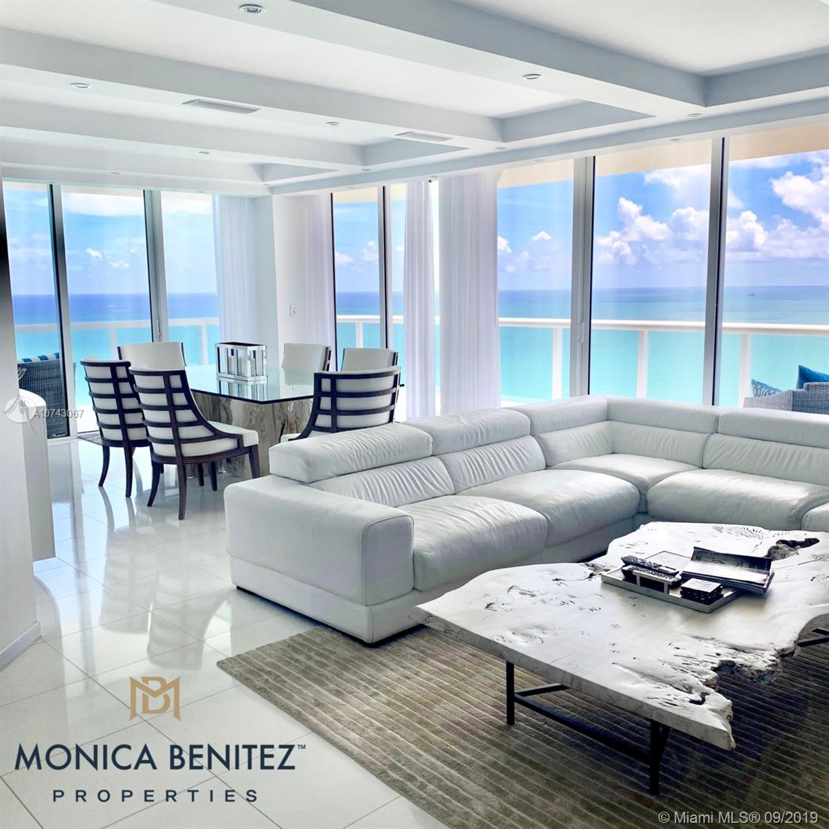 """CONDO IN THE CLOUDS"" located in the highly sought after AKOYA Luxury Condo in Miami Beach 38 floors high into the clouds. Ocean front WRAP AROUND BALCONY with PANORAMIC views overlooking beautiful MIAMI BEACH crystal blue waters. Fully furnished by AWARD WINNING designs of ARTEFACTO. Over 1700 sqft of pure luxury, THASSO marble floors. Every room has absolutely spectacular oceanfront views. Originally a 3 bed 2.5 bath converted into 2 full master bedrooms with 2 full bathrooms and a half bath, 2 parking spaces conveniently located next to building entry door. Fingerprint building access. Amenities include, sauna, racquetball, tennis, golf, 24hr concierge, pool, direct beach access, BBQ and much more. This is a luxurious dream vacation home in the clouds. *RATES MAY VARY* Seasonal Rental."