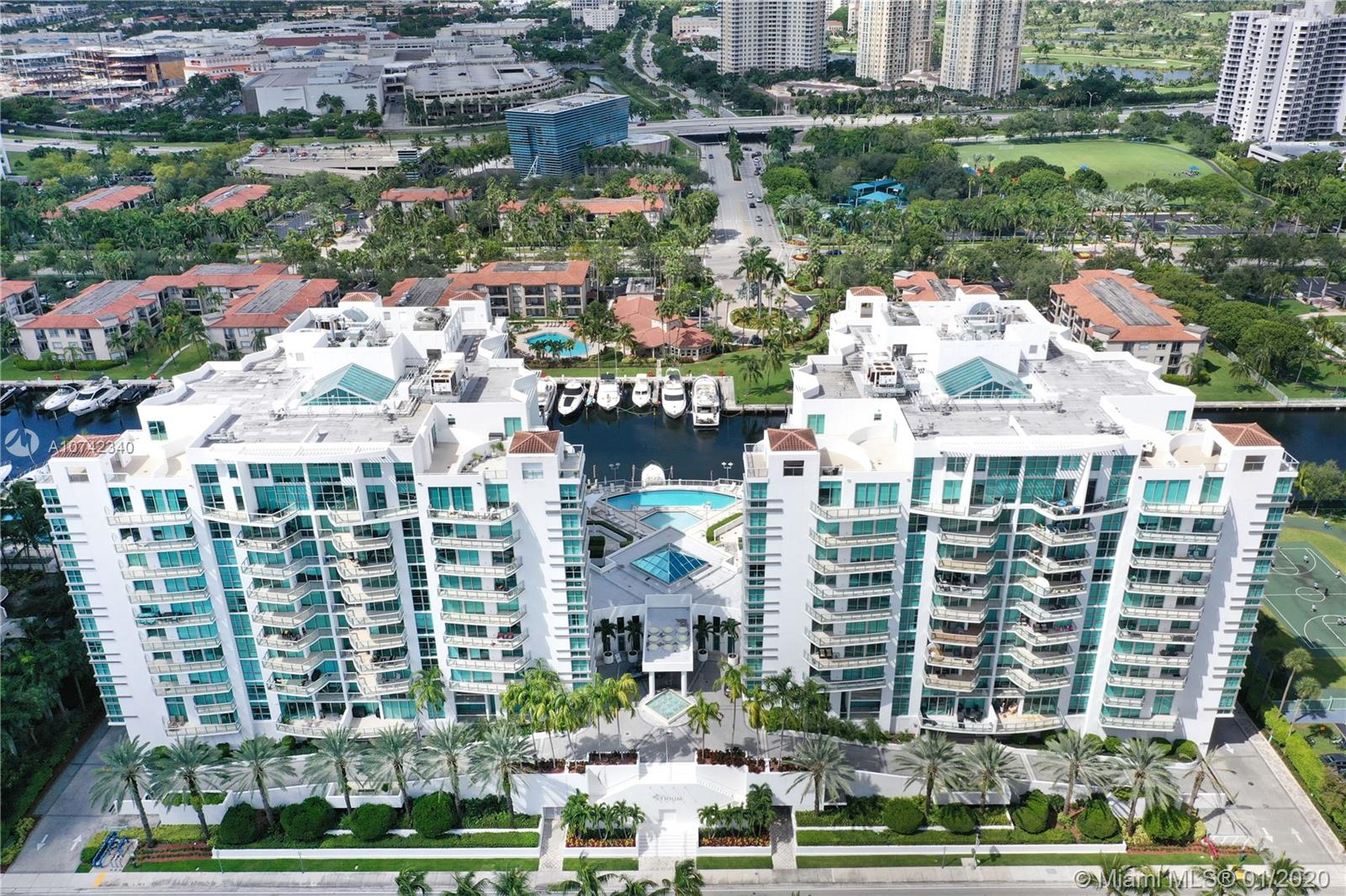 GORGEOUS CORNER UNIT CONDO IN THE HEART OF AVENTURA AT ATRIUM. 3 BEDROOMS PLUS A DEN. INCLUDES 2 STORAGES WITH A/C, STAINLESS STEEL APPLIANCES AND GRANITE COUNTER TOP IN KITCHEN. THE UNIT HAS IMPACT WINDOWS, A HUGE BALCONY, AND BEAUTIFUL VIEWS. CONDO IS FURNISHED. EXCELLENT AMENITIES INCLUDING; GYM, POOL, SAUNA, PARTY ROOM, VALET, 24-HR CONCIERGE, PLAYGROUND AND MORE. EXCELLENT LOCATION; CLOSE TO AVENTURA MALL, A RATED SCHOOLS, RESTAURANTS AND ENTERTAIMENT. A MUST SEE!