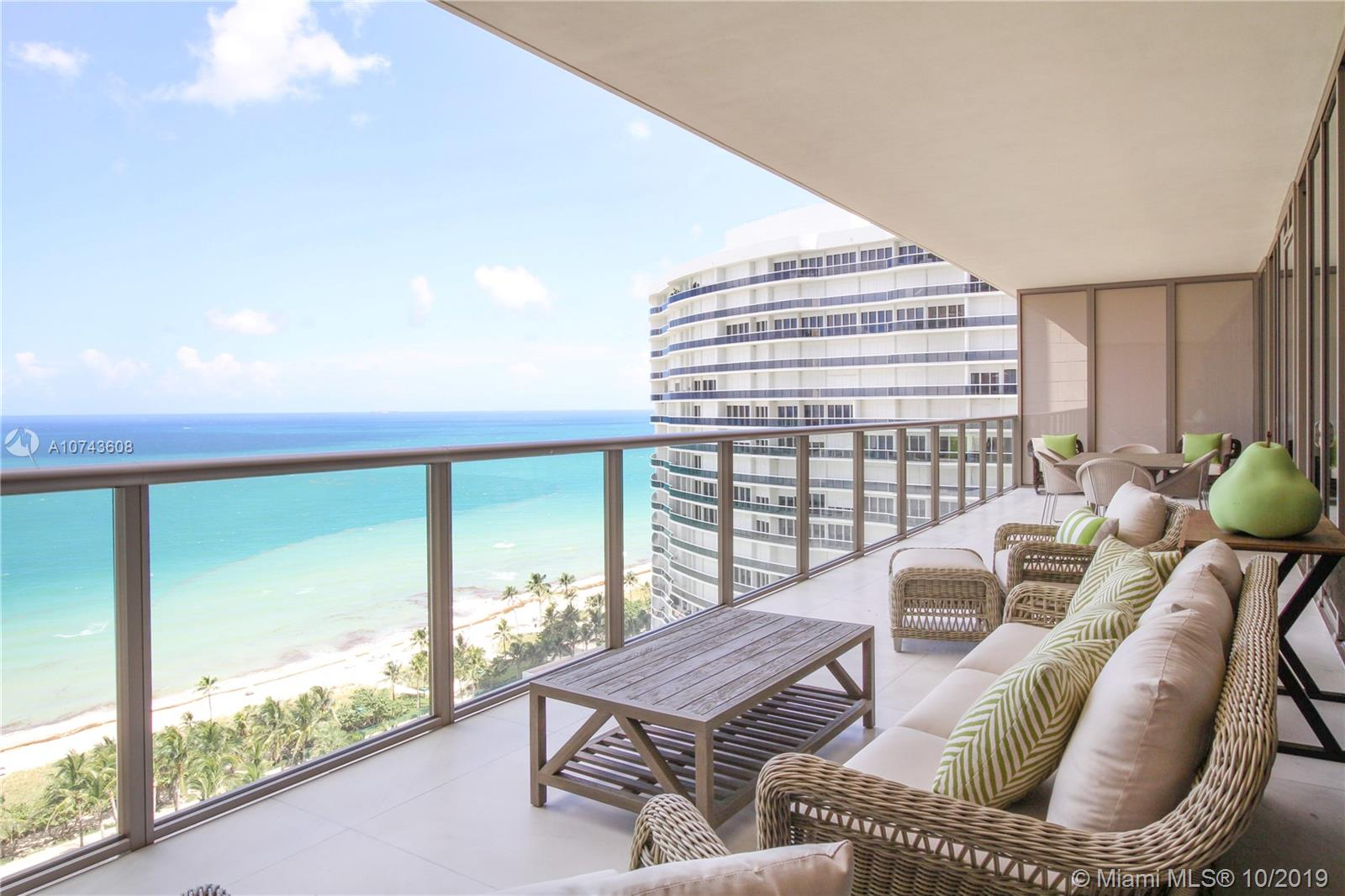 Spectacular Oceanfront residence with breathtaking, unobstructed views of the Atlantic Ocean, intracostal and city skyline.