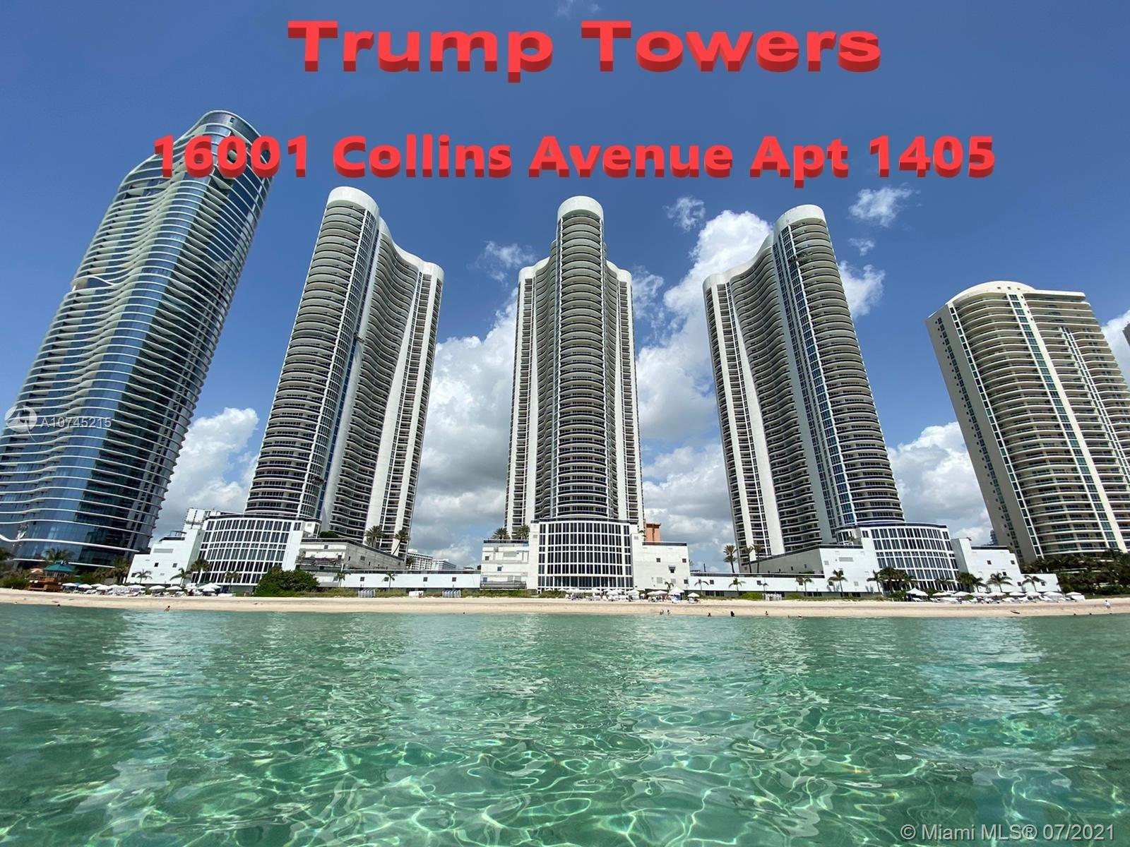 """Tenant occupied from NOV 16, 2020 to NOV 15, 2021 ($3,500/month). This is the best line 5 available at Trump Towers... 10"""" Ceilings unit with breathtaking intracoastal views. Floor to ceiling windows, granite counter top, built-in coffee machine, Subzero & stainless steel appliances and Italian cabinetry. world-class amenities including Fitness center, swimming pool, spa, sauna, conference room, game room, 24/7 valet, etc..--> Click on virtual tour link to see Video"""