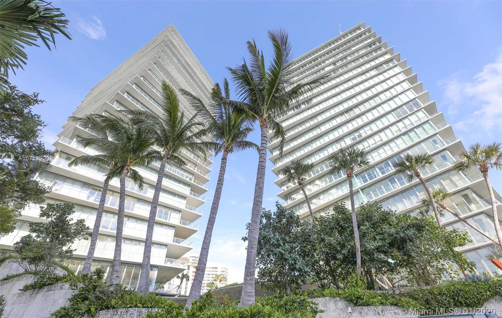 """THIS WORLD CLASS LISTING, """"THE DANCING TOWERS"""" IS WHAT MIAMI IS ALL ABOUT WITH ITS BREATH-TAKEN VIEWS OF BISCAYNE BAY AND MIAMI SKYLINE. THIS 4 BEDROOM, 4.5 BATH (4th BEDROOM IS A FULL MAIDS ROOM) LOCATED IN THE SOUTH TOWER ON THE 11TH FLOOR WITH A TOTAL ODF 4,383 SQ FT INCLUDING 839 FT WRAPAROUND BALCONY WITH STUNNING OCEAN VIEWS AND 3,544 OF LIVING SPACE. FEATURING CUSTOM 36X36 SPANISH PURE WHITE MARBLE FLOORS THROUGHOUT THE COMMON AREAS AND KITCHEN.BEDROOMS HAVE BRAZILIAN EXOTIC 9 INCHES WOOD FLOORS AND ELECTRIC BLACKOUT SHADES. PREMIUM NIELE KITCHEN APPLIANCES."""