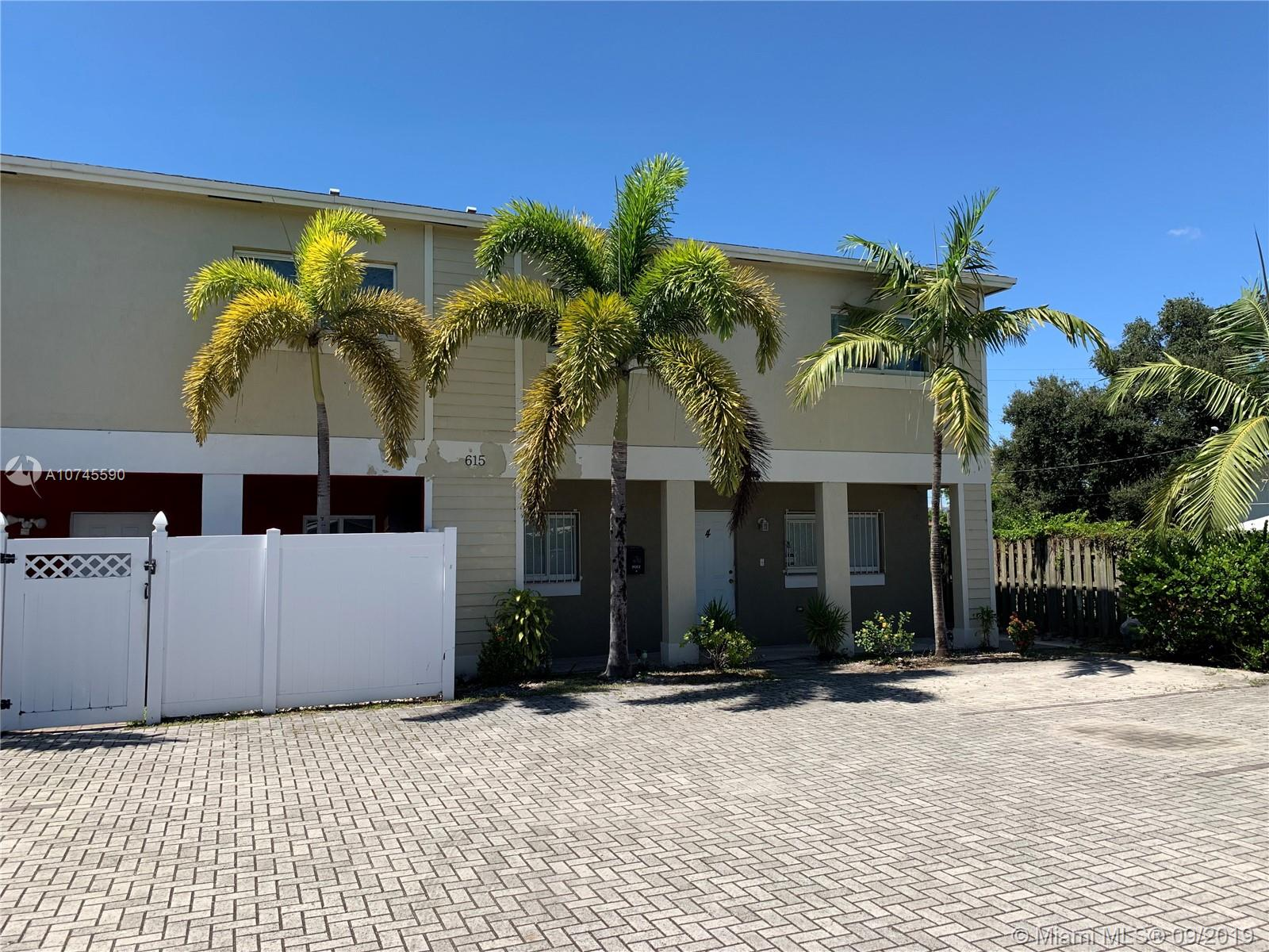 615 NW 10th Ter #2 For Sale A10745590, FL