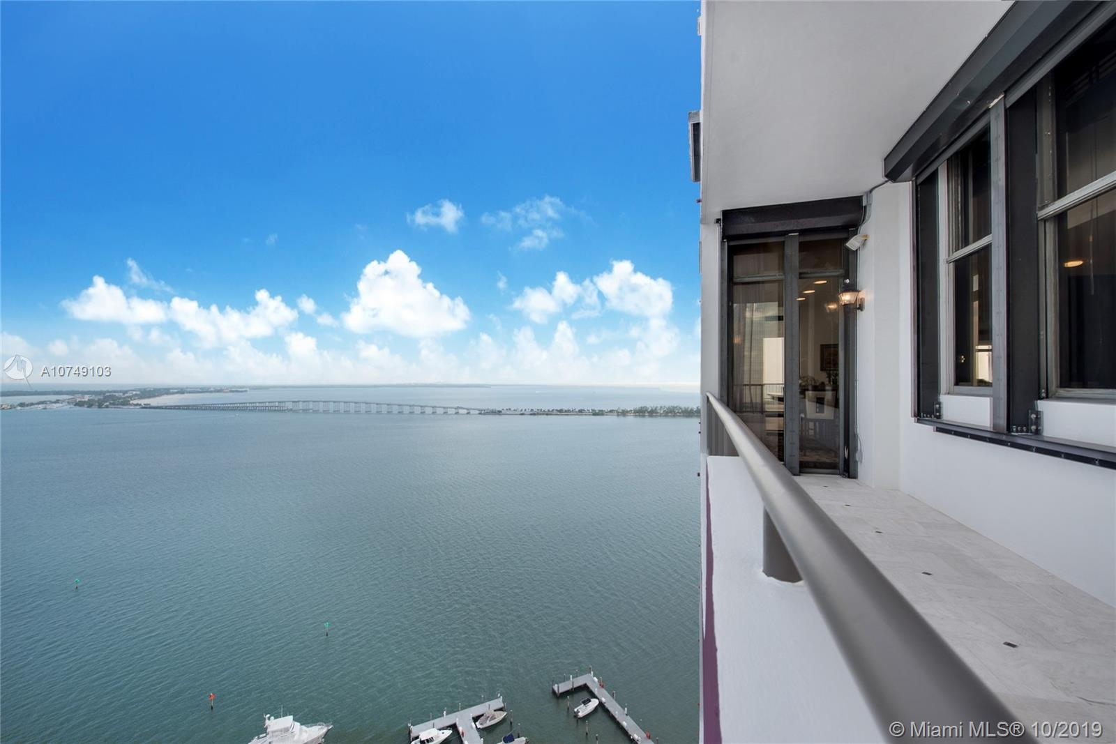 Gorgeous, One of a Kind Penthouse on Miami's Brickell Avenue boasting 7,280 Square Feet of living area and over 1,000 Square Feet of terraces offering unobstructed Ocean and City views. Featuring private elevators opening into a keyed foyer, this condo includes 6 bedrooms - 6.5 baths, library/den, maids-quarters, and multiple entertainment areas. Floor to ceiling windows throughout, volume ceilings, state of the art appliances, 6 parking spaces, and a 40 FT deeded dock. Building amenities are spaciously laid-out thought out throughout the property, unachievable in today's construction; guarded gate, 24-hour concierge and security, fully-equipped gym, pool & jacuzzi, BBQ area, multiple party rooms, kids room, and more.